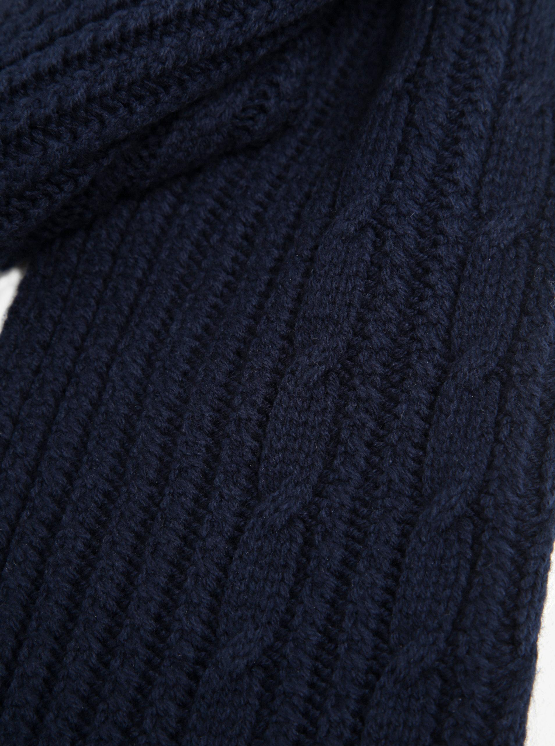 54a8a1edc17 Tmavě modrá pánská šála GANT ...