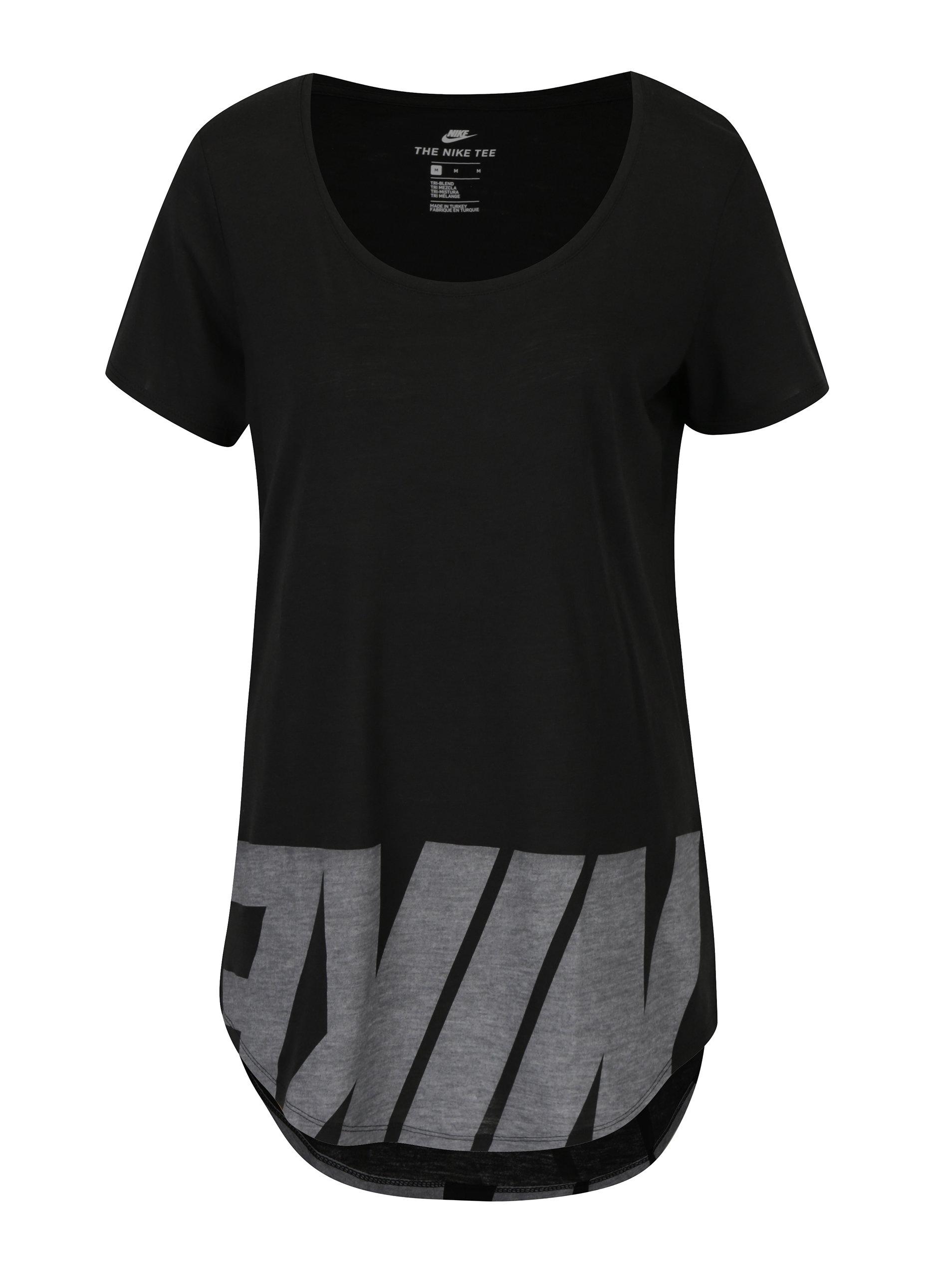 Černé dámské volné tričko s potiskem Nike ... 2b77ca7192