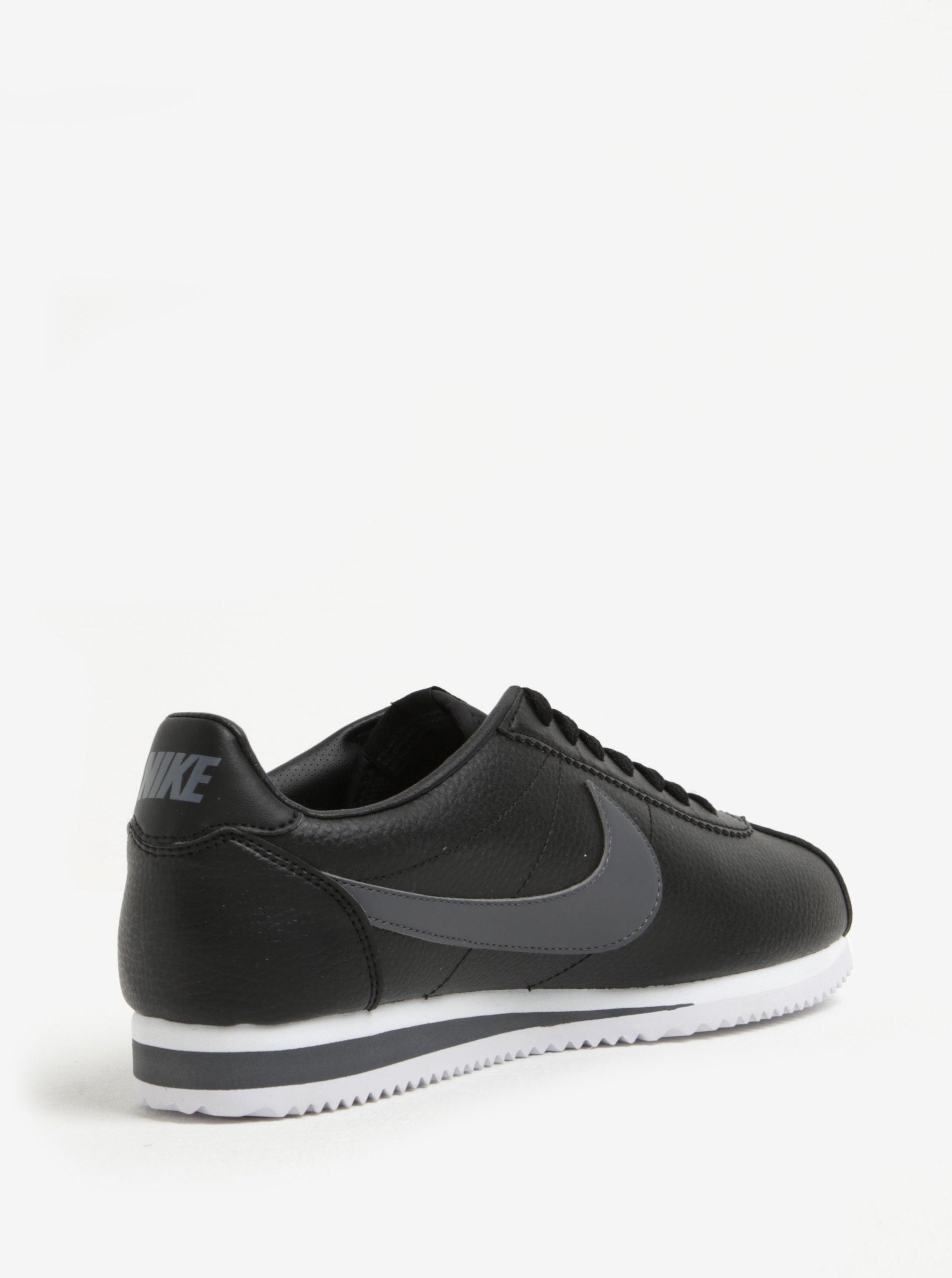 e3a41bcbaa0 Čierne pánske kožené tenisky Nike Classic Cortez ...
