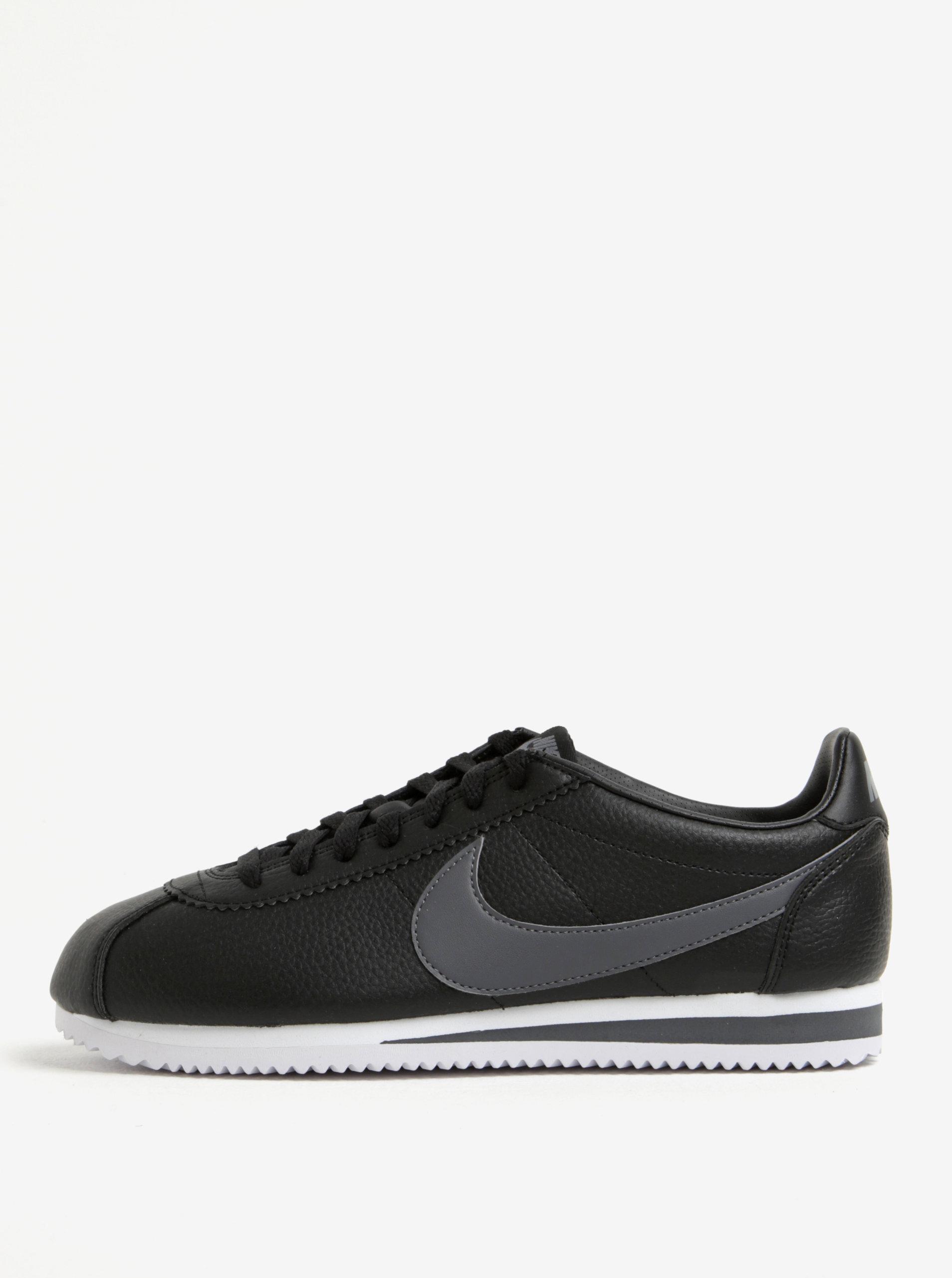 0a1ceffe8a0 Černé pánské kožené tenisky Nike Classic Cortez ...