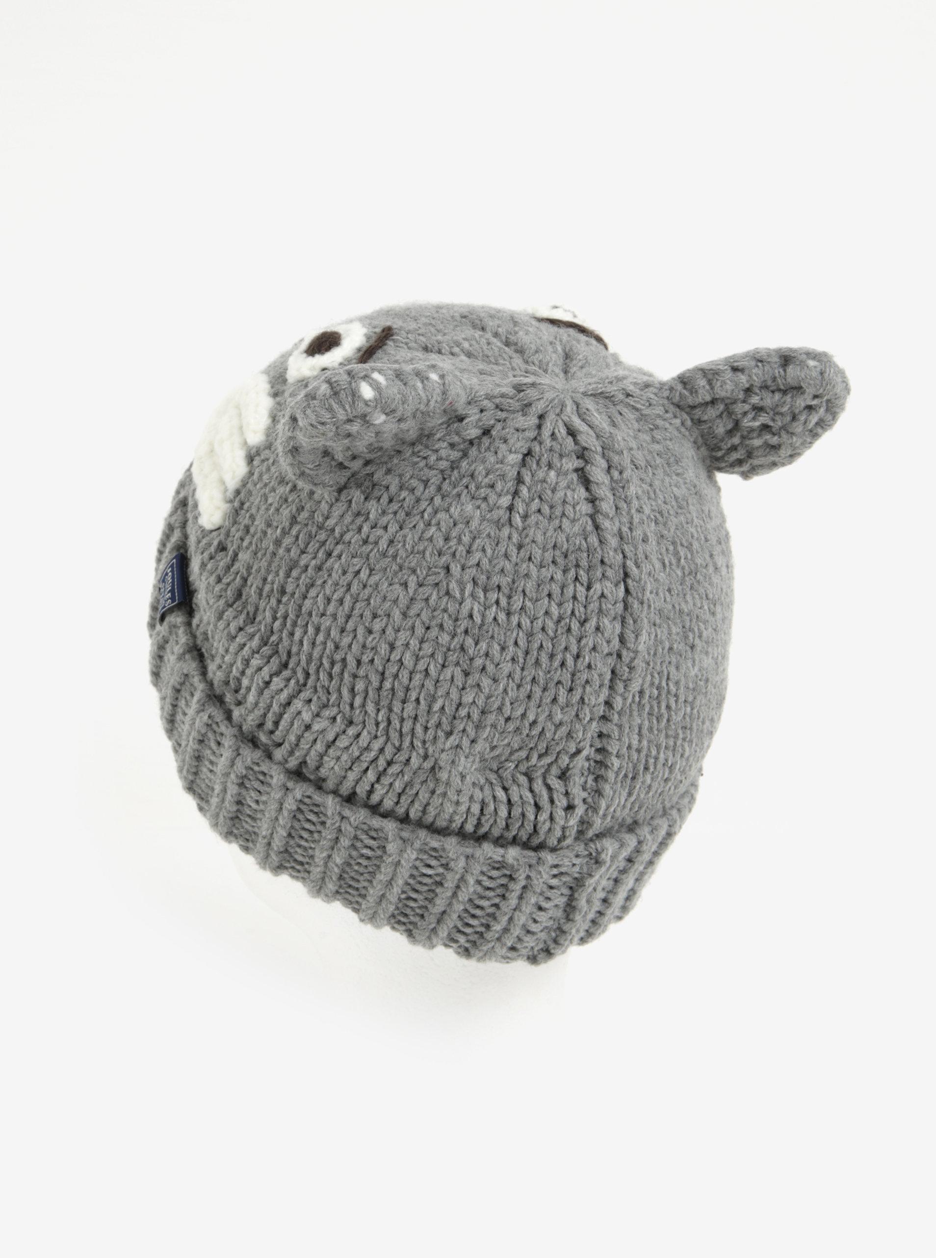 a1ee4202a Sivá detská čiapka s motívom vlka Tom Joule | ZOOT.sk