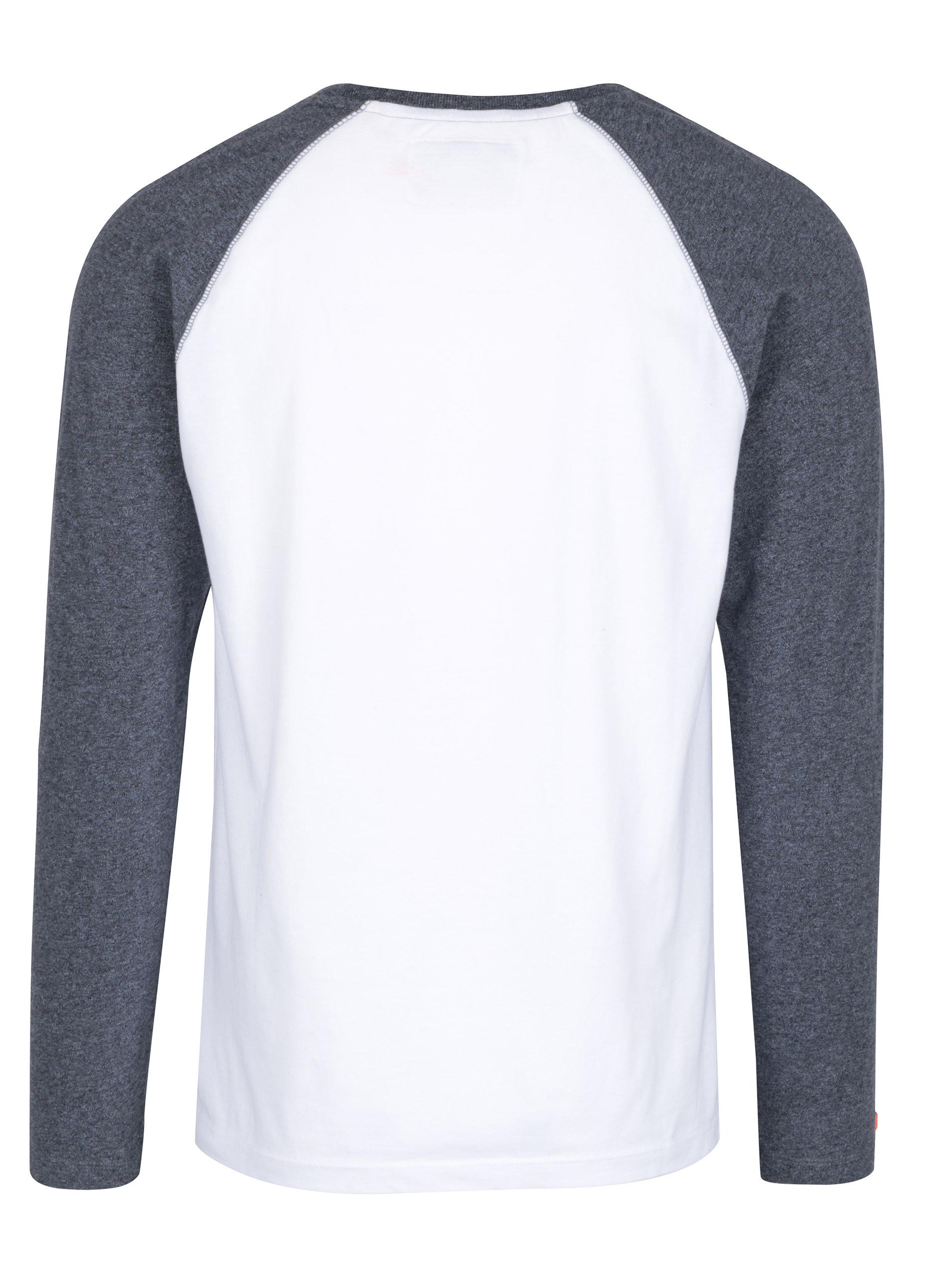5e57d5f84413 Modro-biele pánske tričko s dlhým rukávom Superdry Orange ...