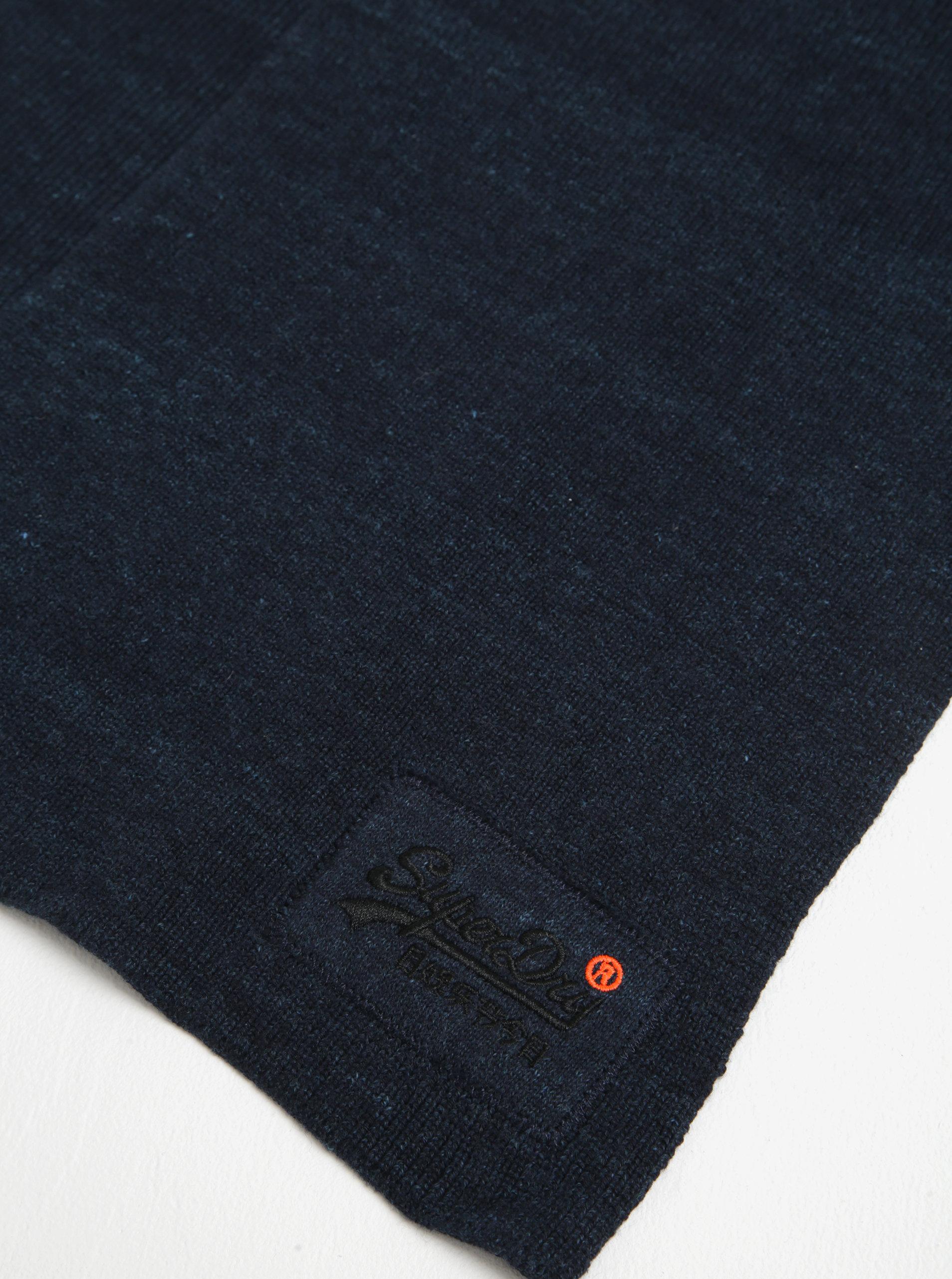976b78f9d2fc Tmavě modrá pánská šála Superdry Orange ...