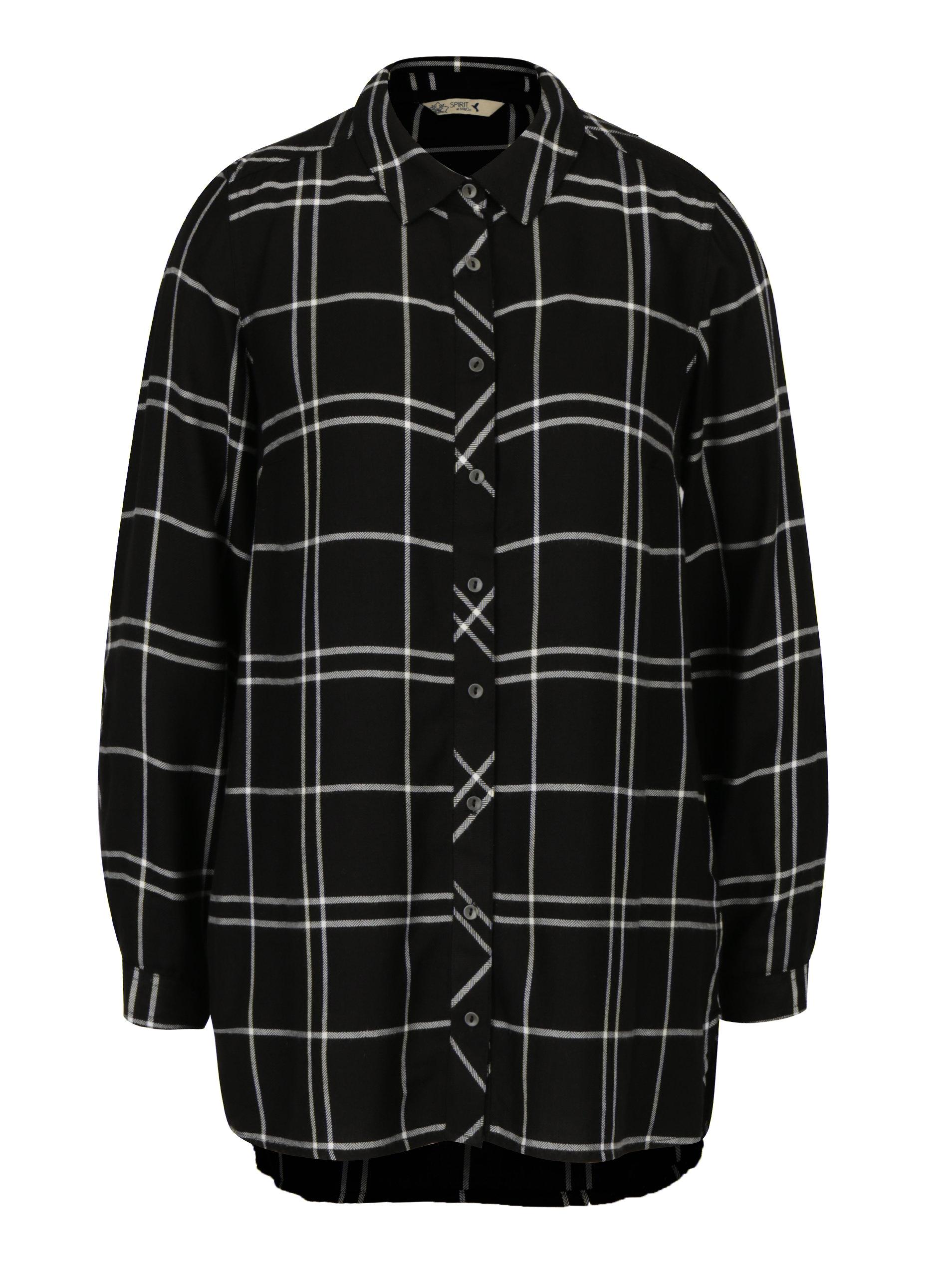Čierna kockovaná dlhá košeľa M Co ... 6ca47359327