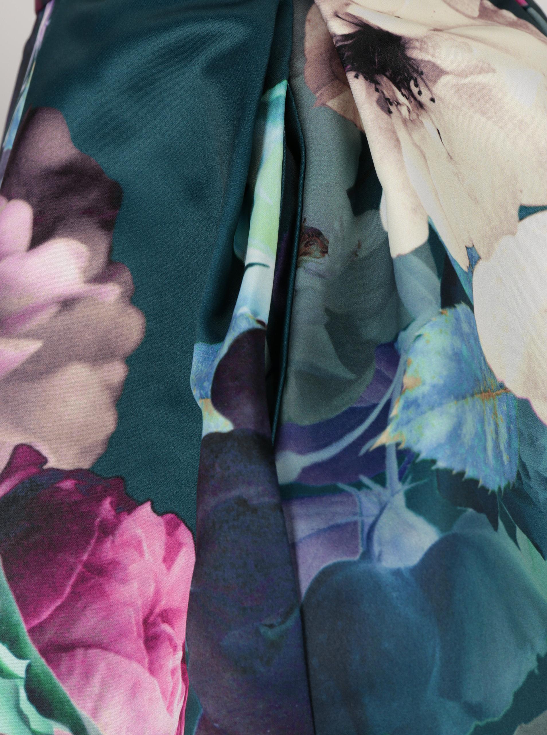 b2cc74b2922e Tmavě zelená květovaná midi sukně Closet ...