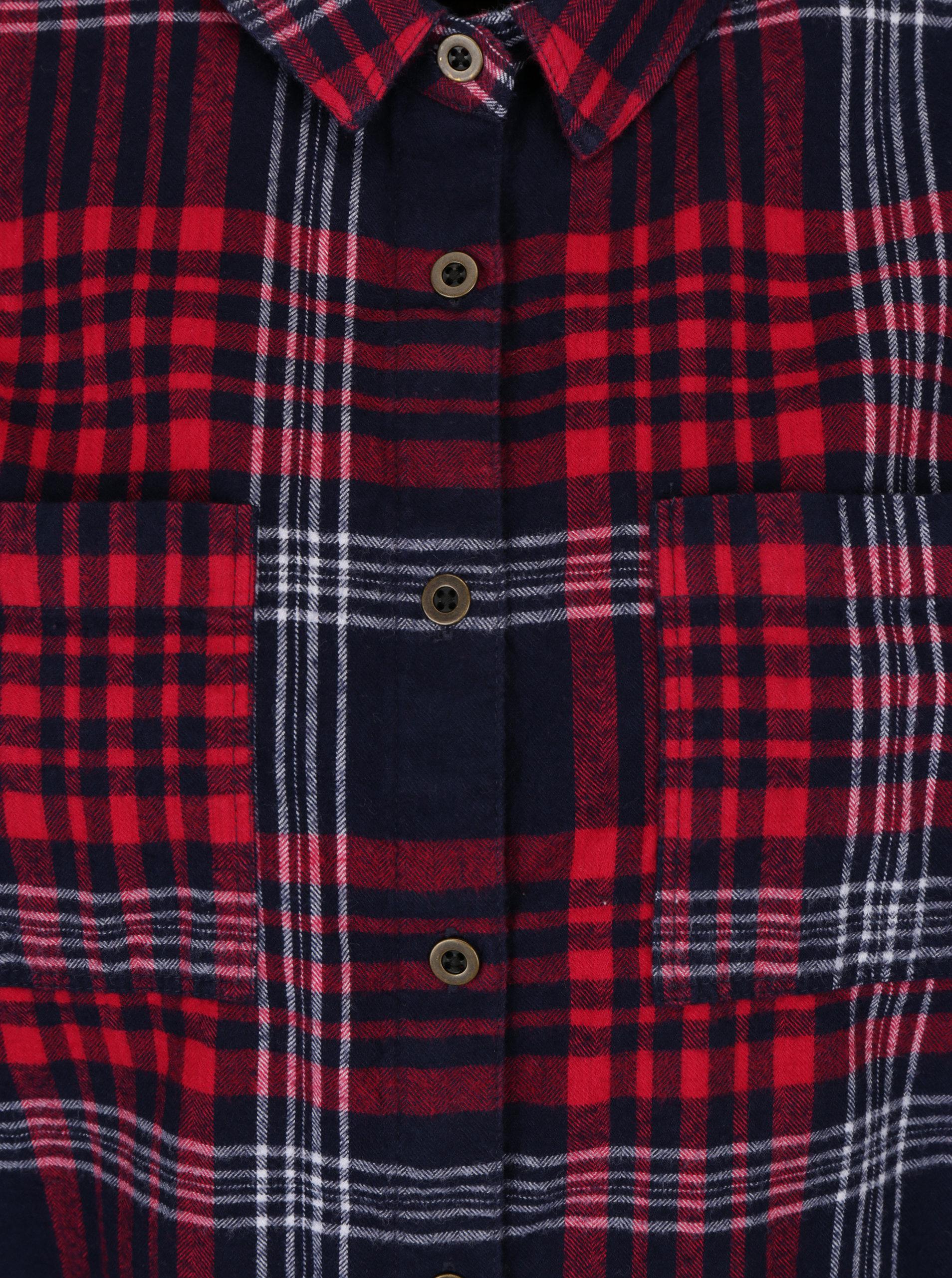 c90322ebff2f Modro–červená dámska kockovaná košeľa Superdry Lumber ...