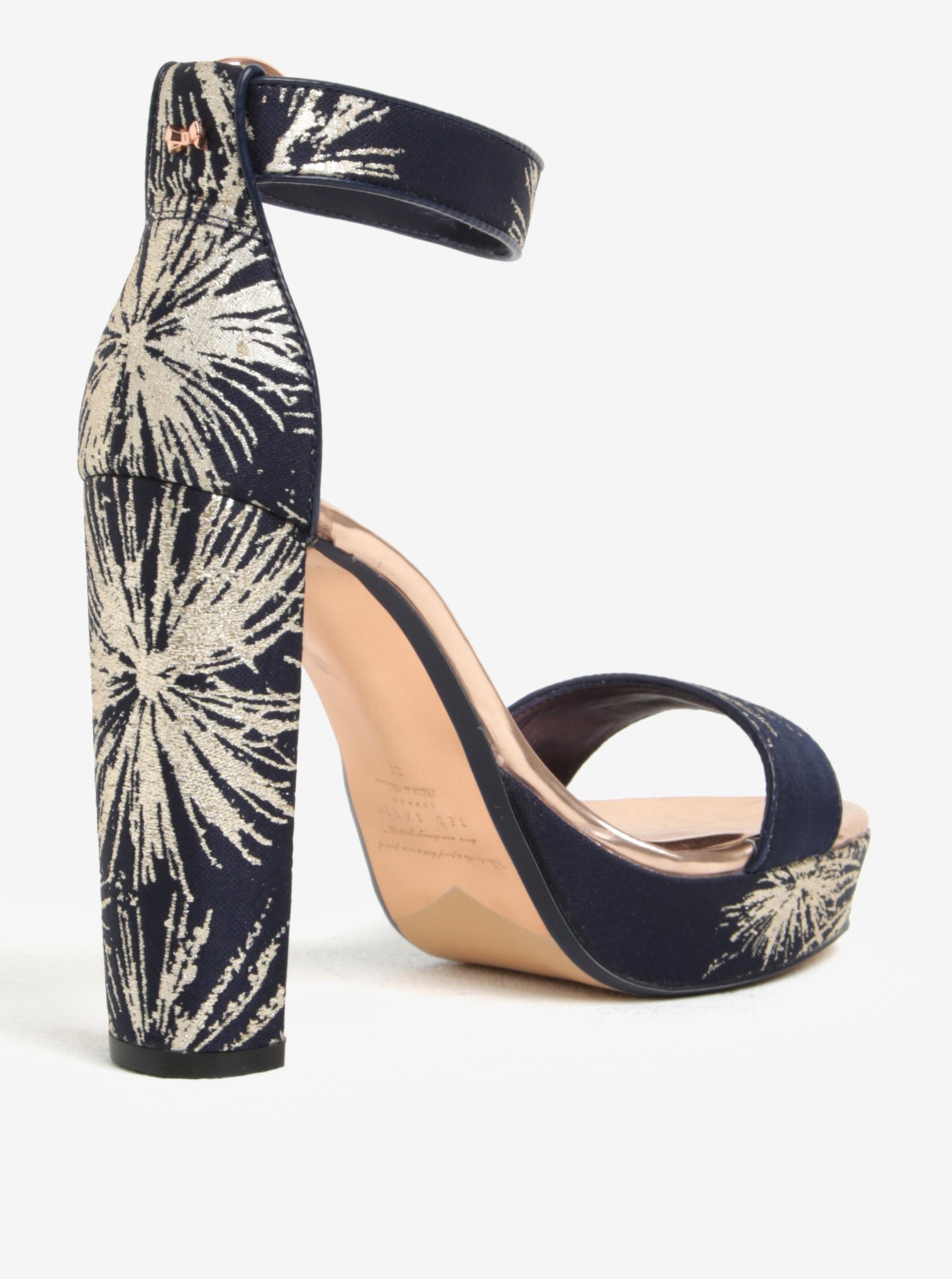 398ee36783563 Zlato-modré vzorované sandálky na platforme Ted Baker Jewll | ZOOT.sk