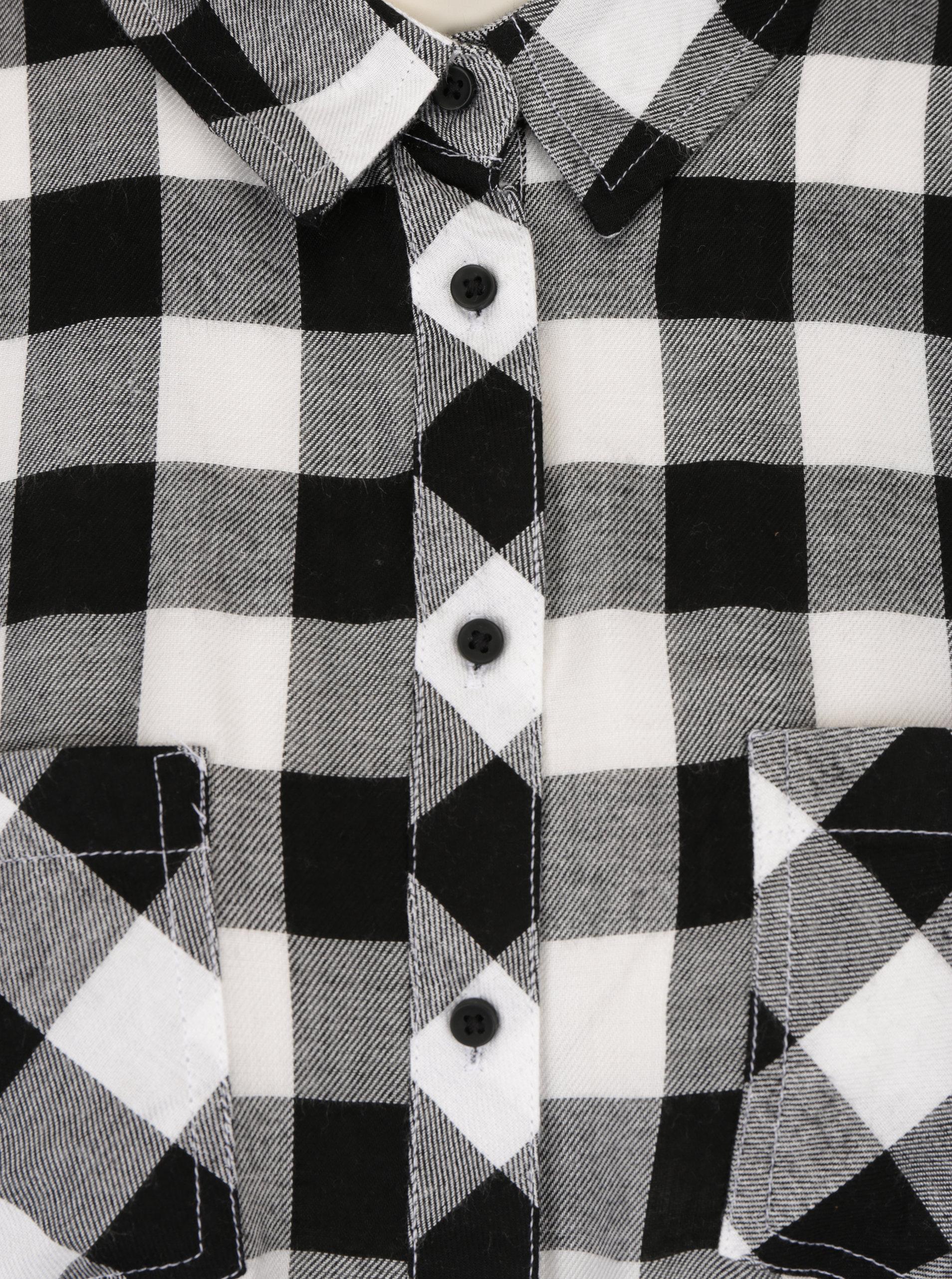 320a2f454cad Čierno-biela kockovaná košeľa s vreckami TALLY WEiJL ...