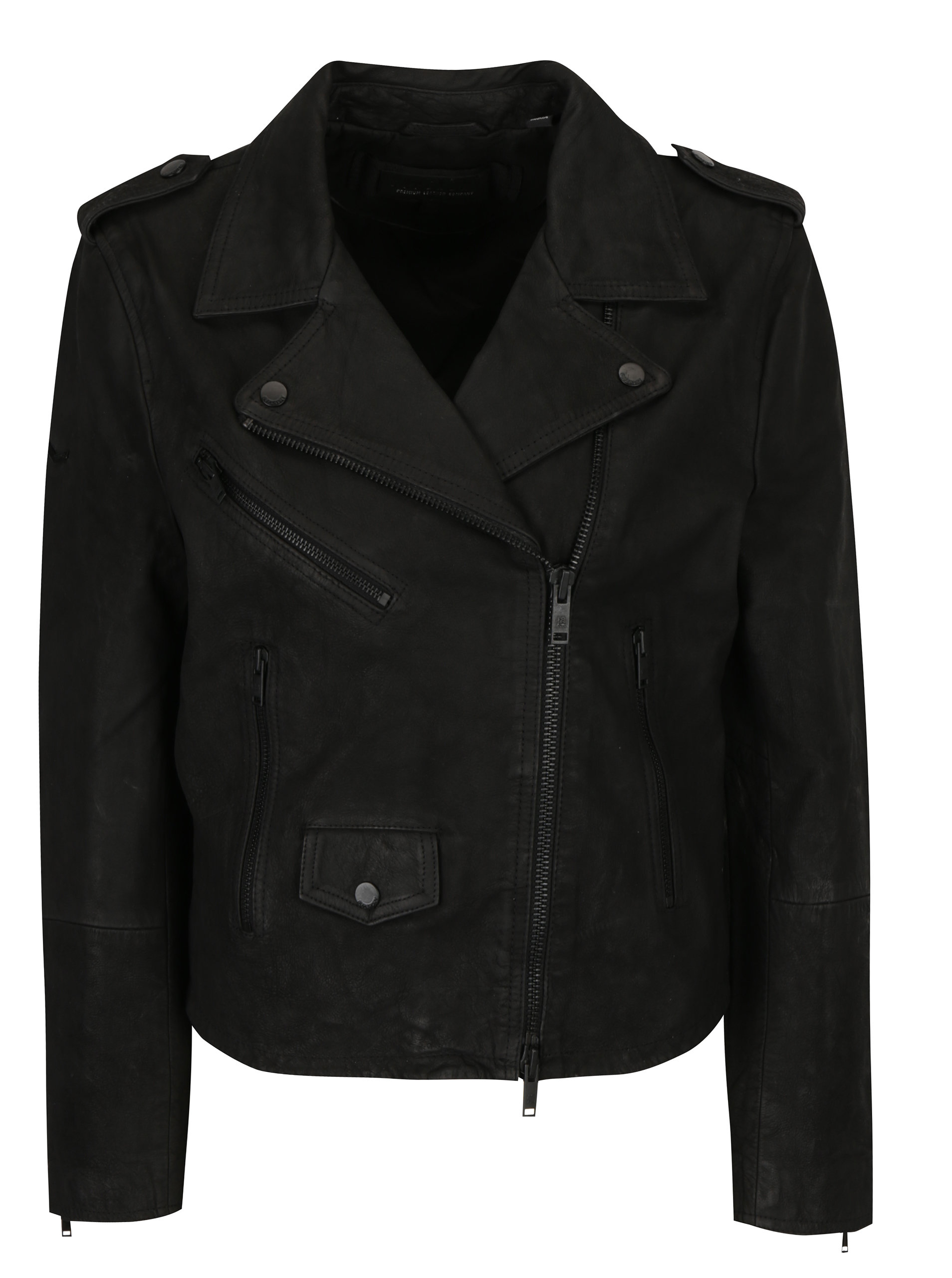 7cff2dbf213e Čierna dámska kožená bunda Superdry Mhairi ...