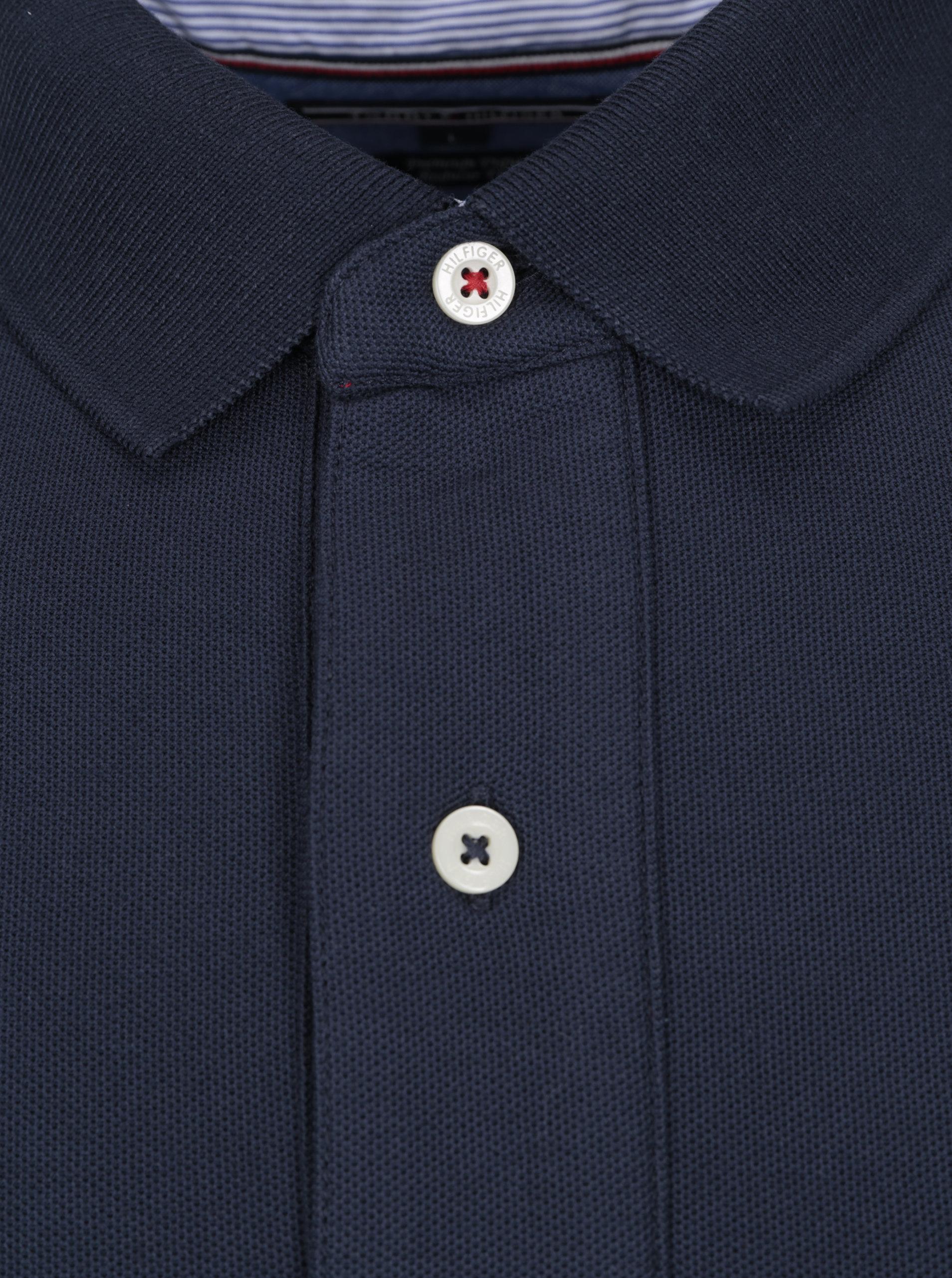 f28844d089 Tmavě modré pánské regular fit polo tričko Tommy Hilfiger ...