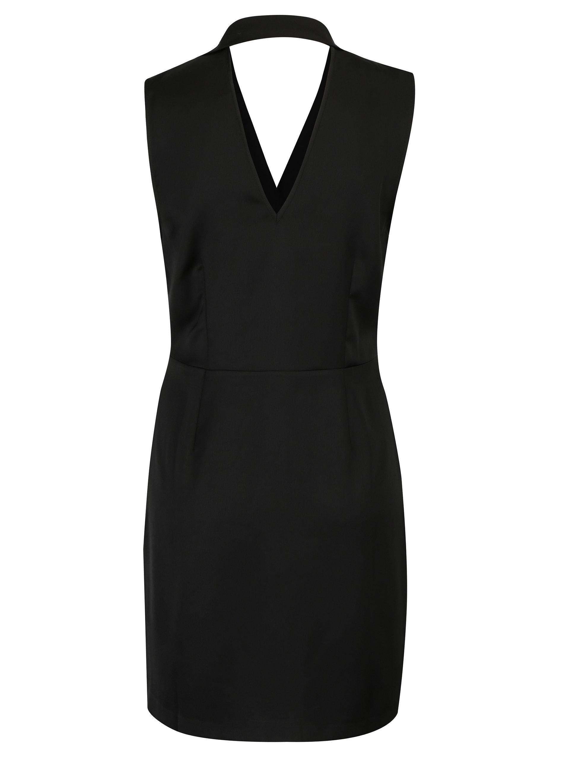 e2849eea1cad Černé zavinovací šaty Miss Selfridge ...