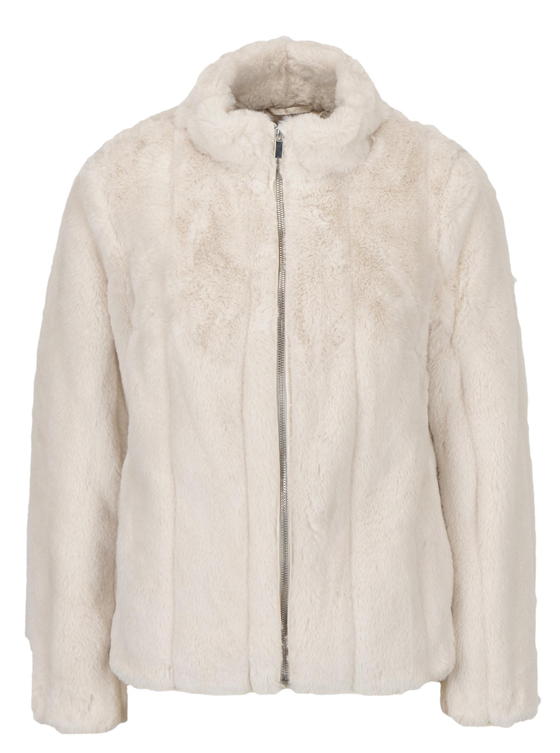 97bd831b1 Krémový krátky kabát z umelej kožušiny Dorothy Perkins Petite | ZOOT.sk