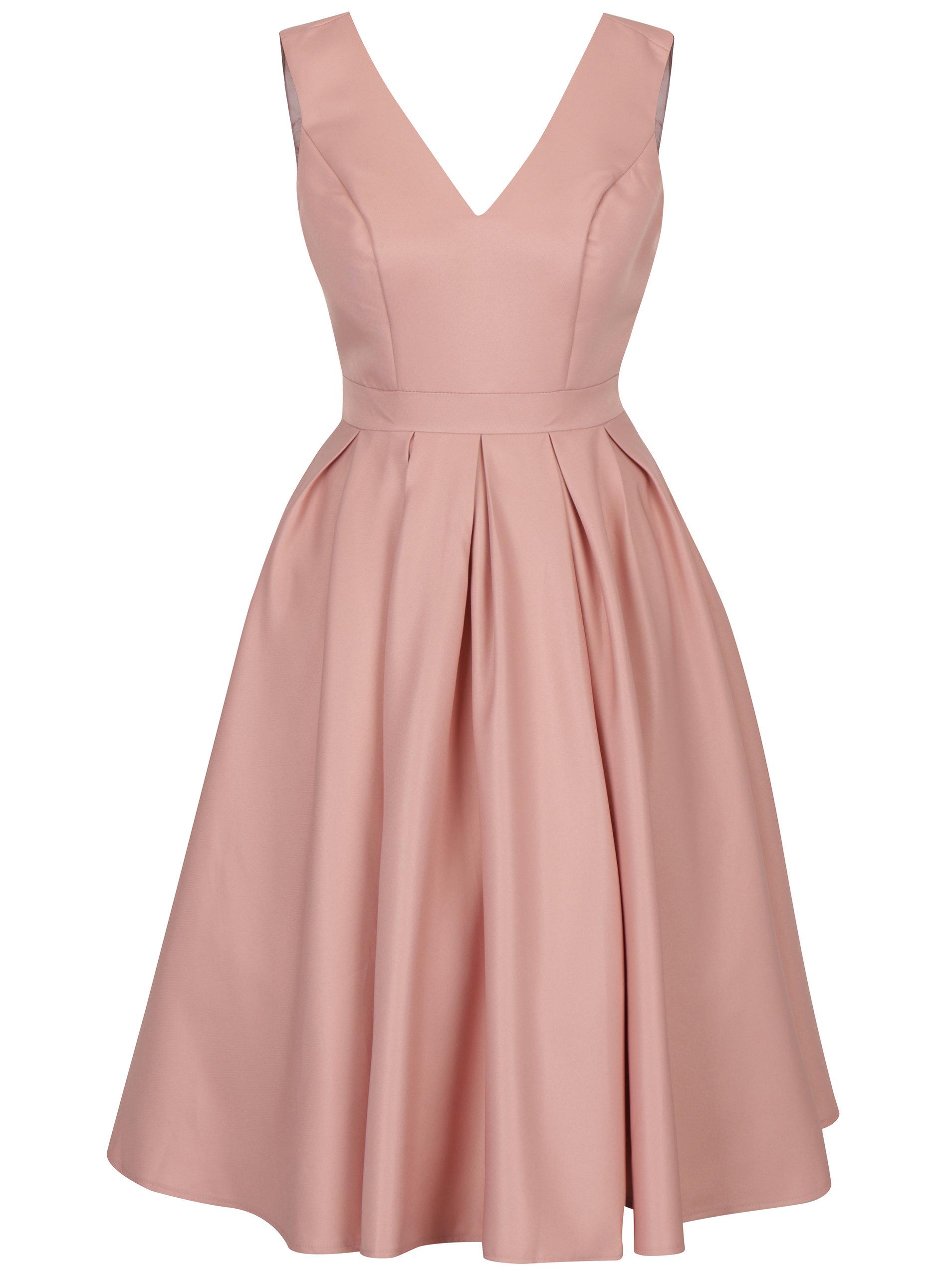 3b3cb2207279 Světle růžové šaty s výstřihem na zádech Chi Chi London Aymee ...