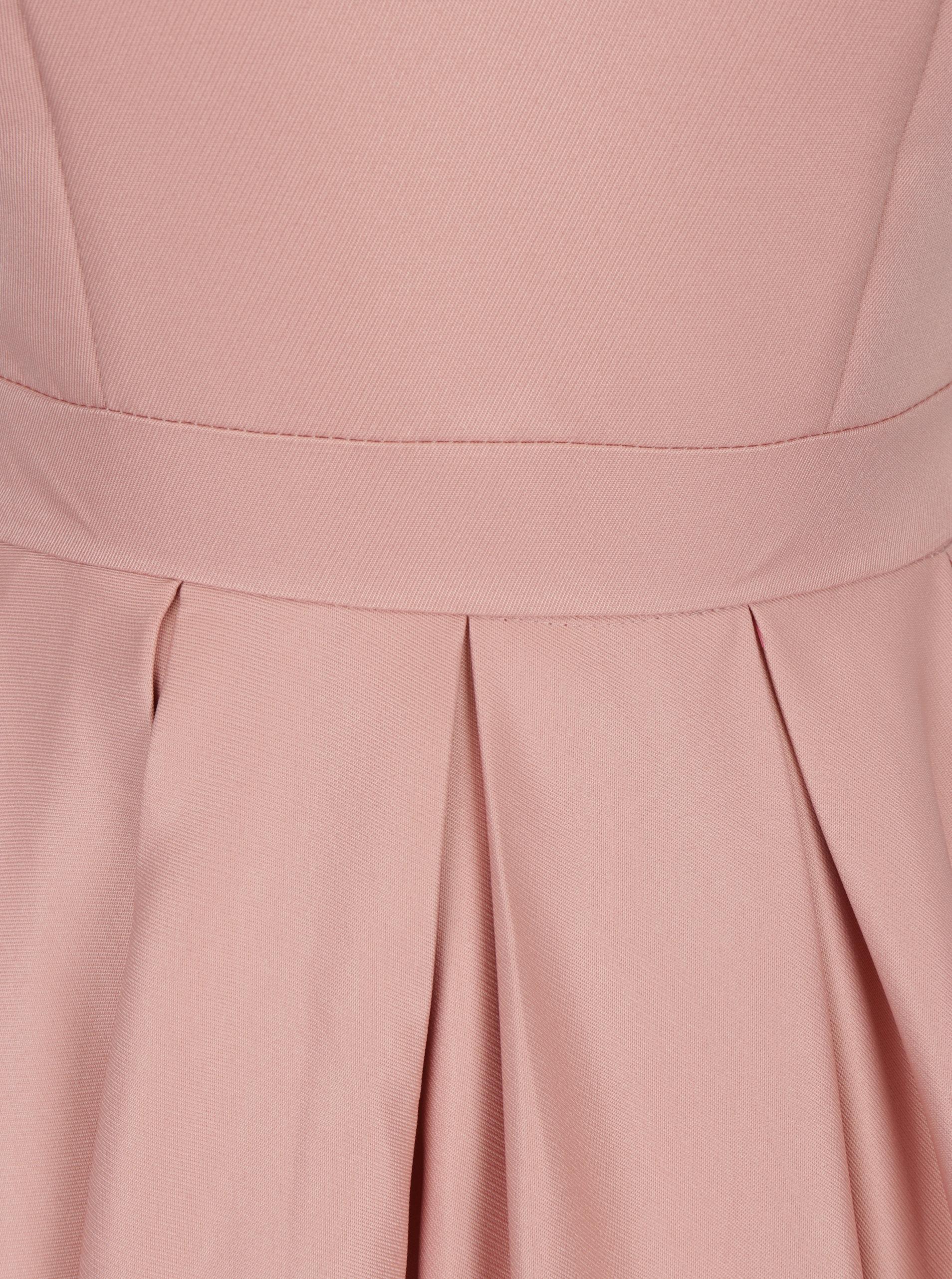 1dcc4bfc8849 Svetloružové šaty s výstrihom na chrbte Chi Chi London Aymee ...