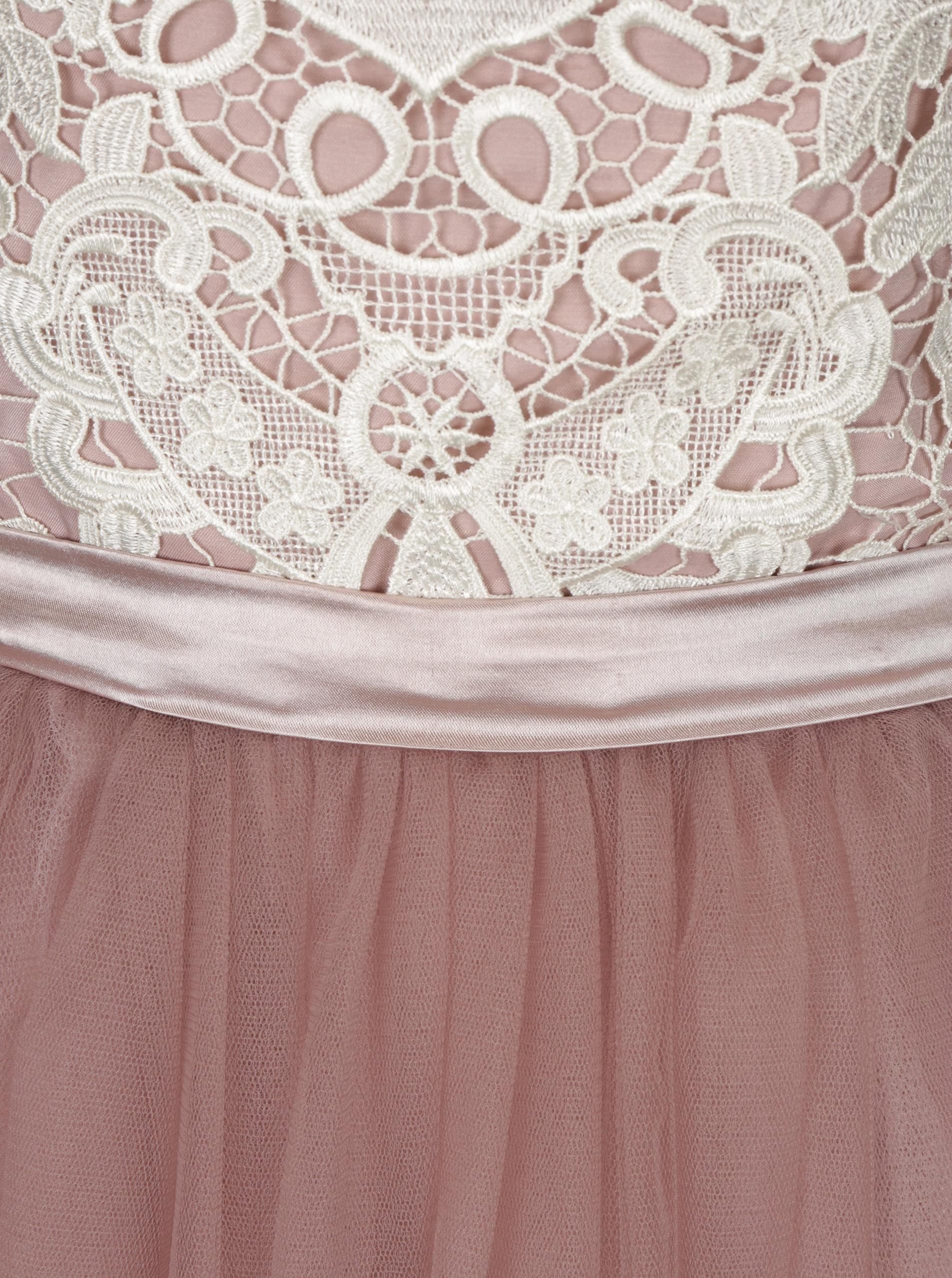 0da3c484a8ea Staroružové šaty s čipkovaným topom a tylovou sukňou Chi Chi London Selina  ...