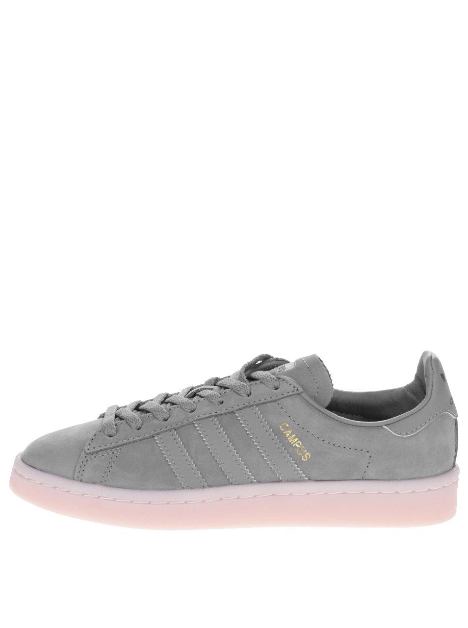 Tmavosivé dámske kožené tenisky adidas Originals Campus ... 3e0ee7d438