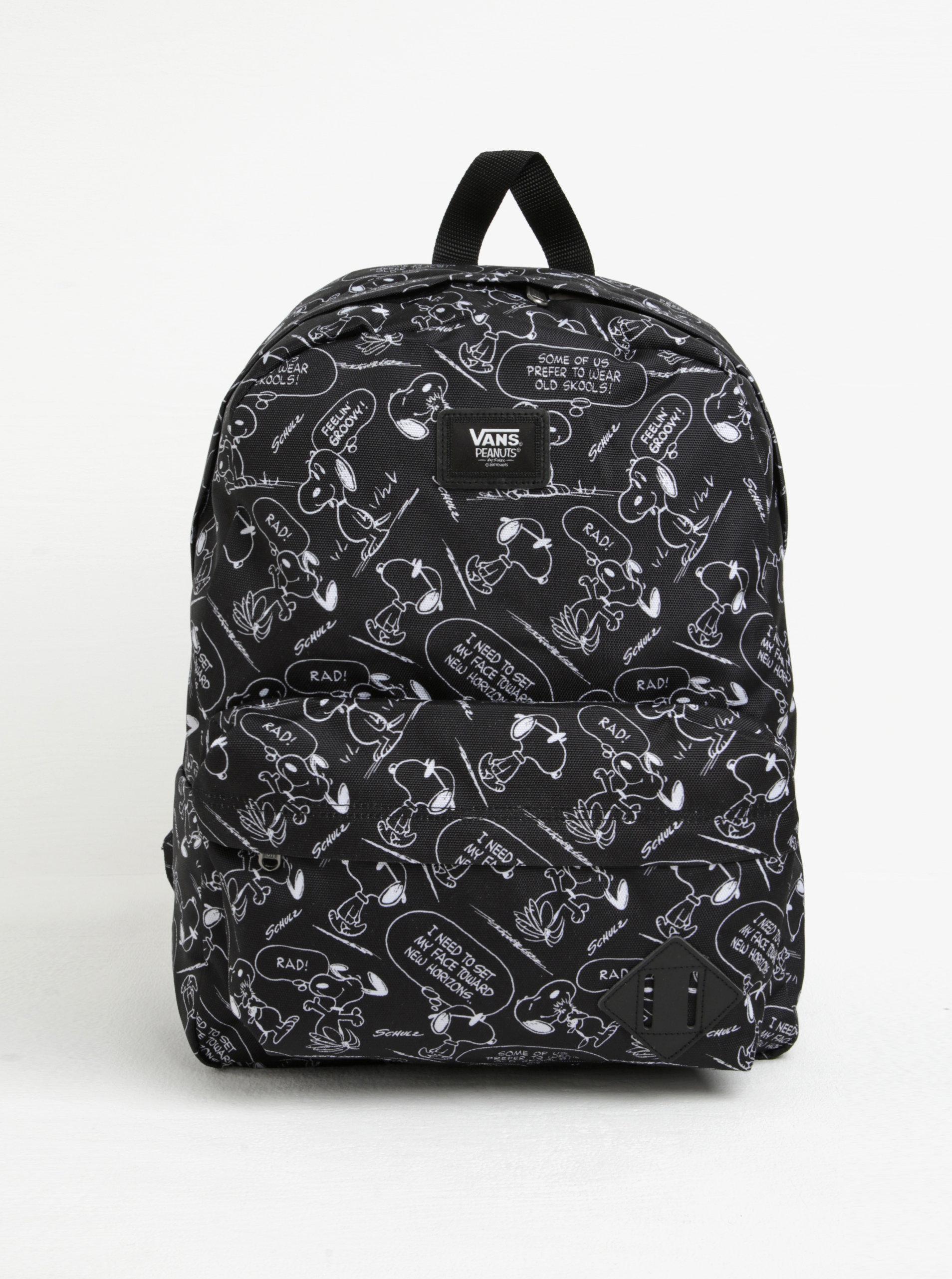 5e5c70218ba Černý vzorovaný batoh VANS Peanuts ...