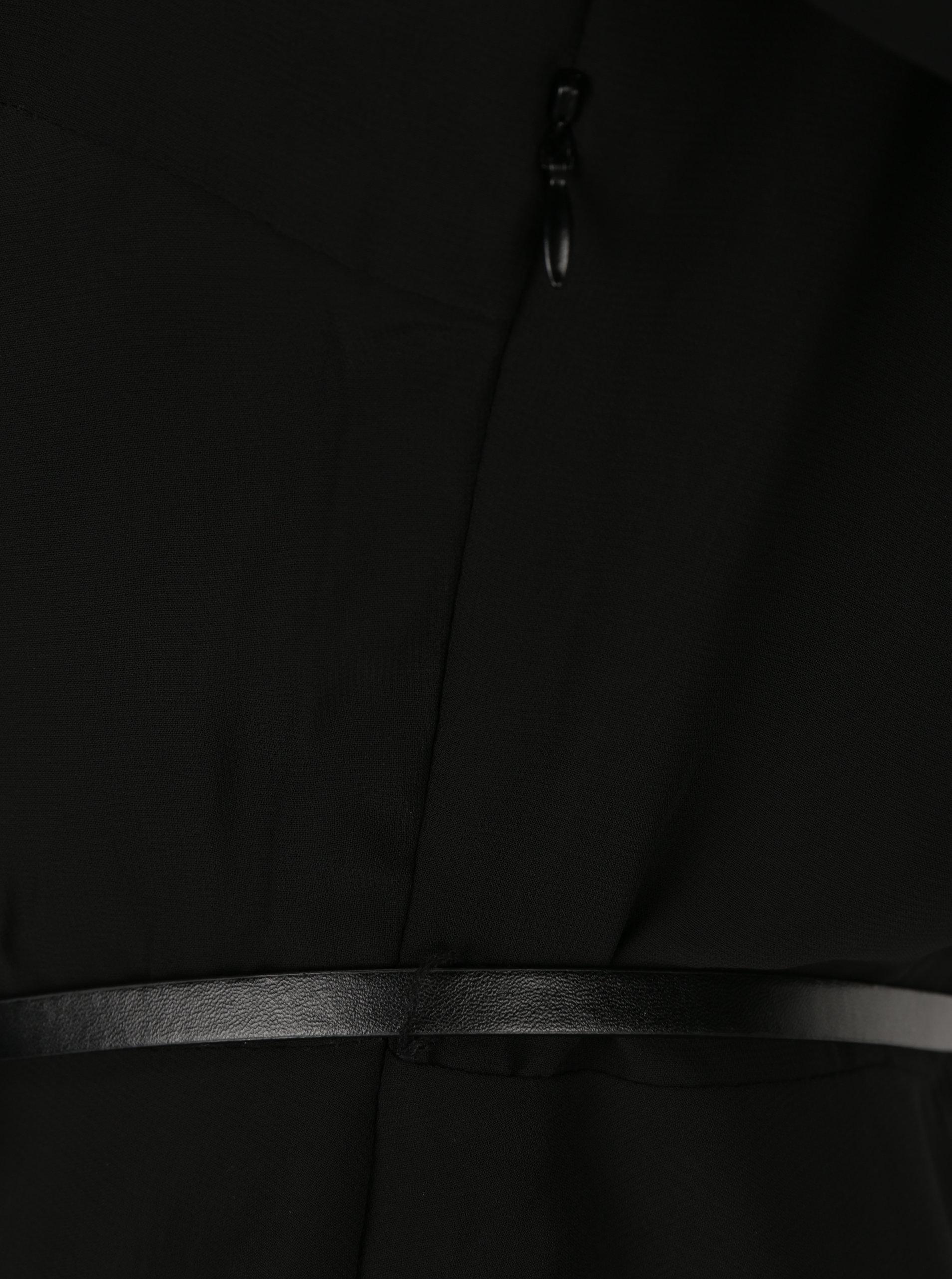 196d6bb301a2 Čierne šaty s opaskom VERO MODA Adele ...