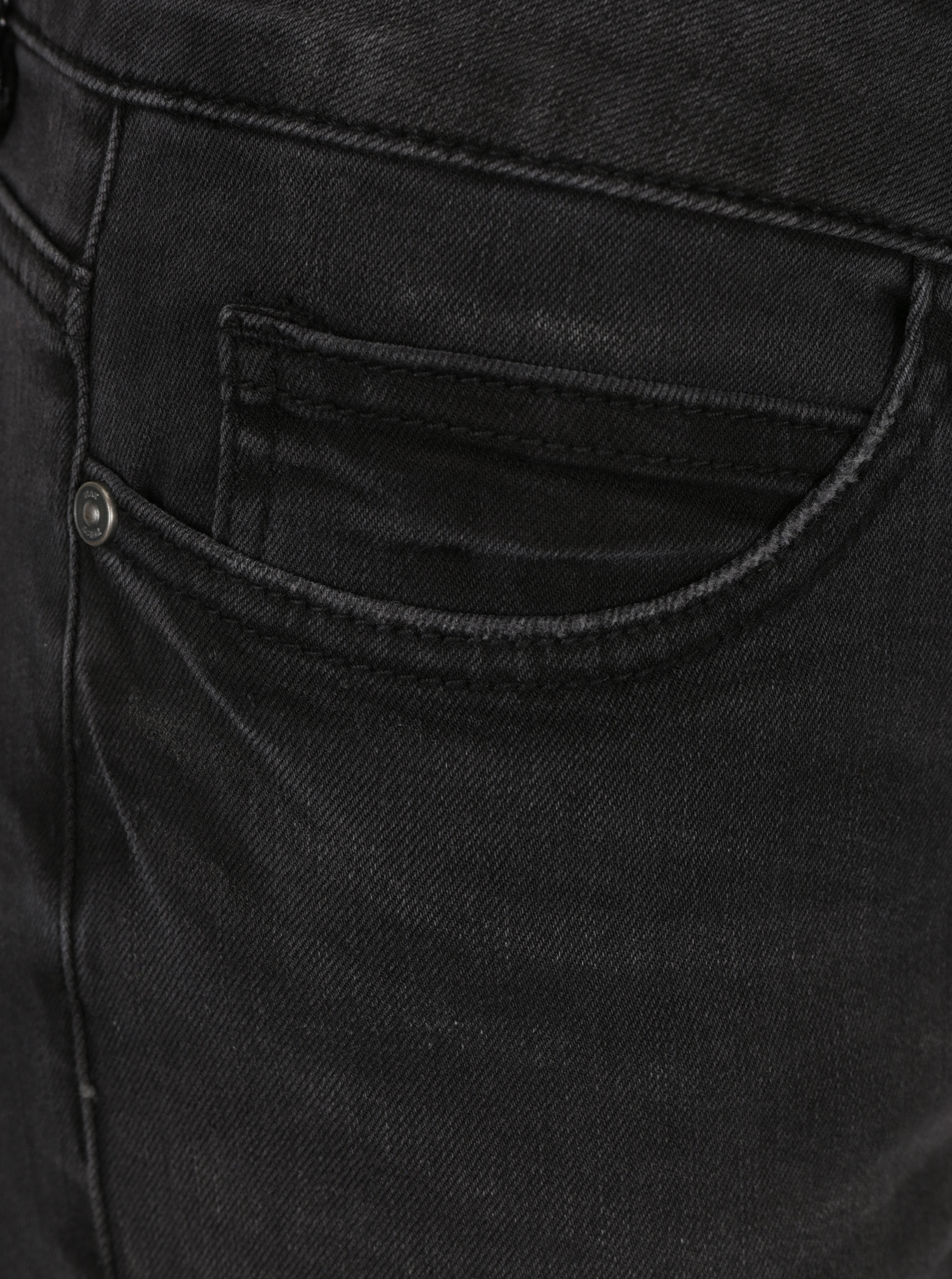 Tmavě šedé skinny džíny s potrhaným efektem Noisy May Lucy ... 674ef6cf29