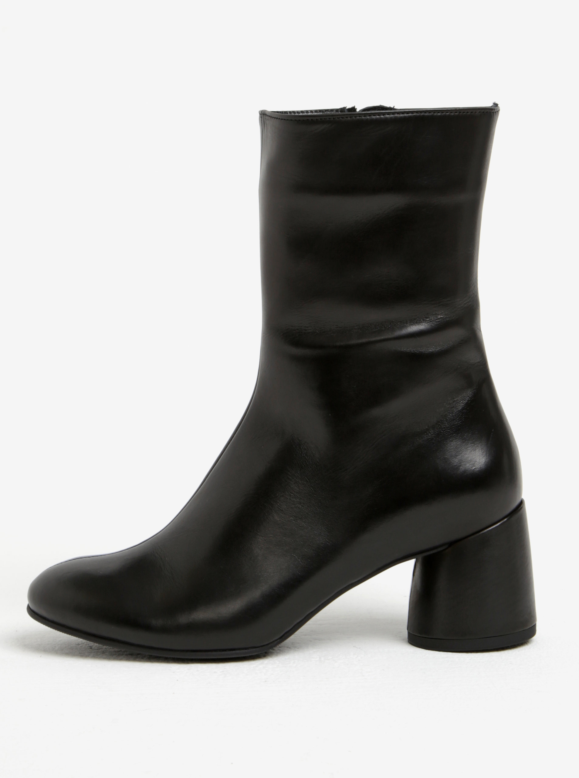 Čierne dámske kožené čižmy Högl ... a167a9b058f