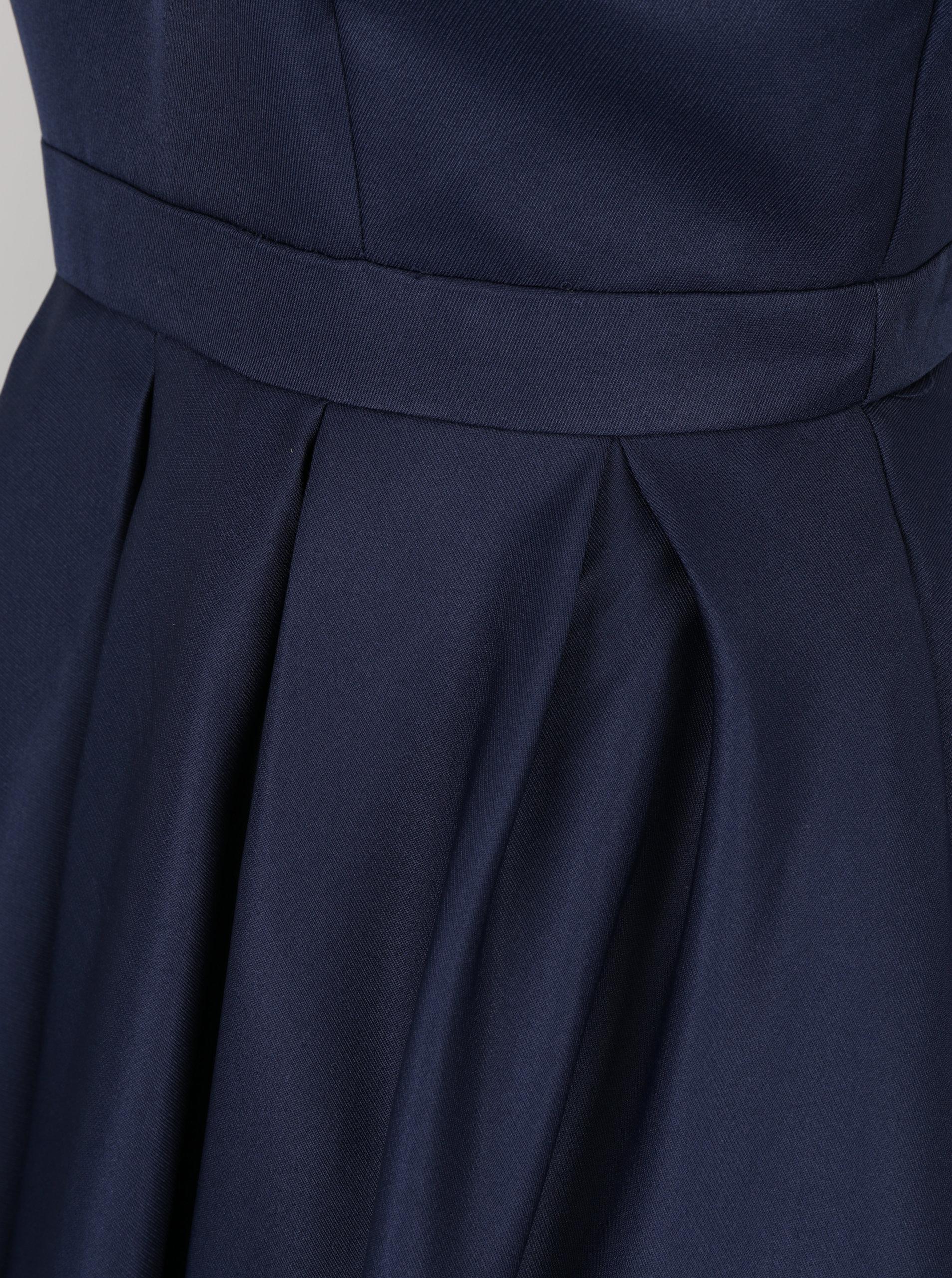 aae00c49c11f Tmavomodré šaty s výstrihom na chrbte Chi Chi London Zara ...