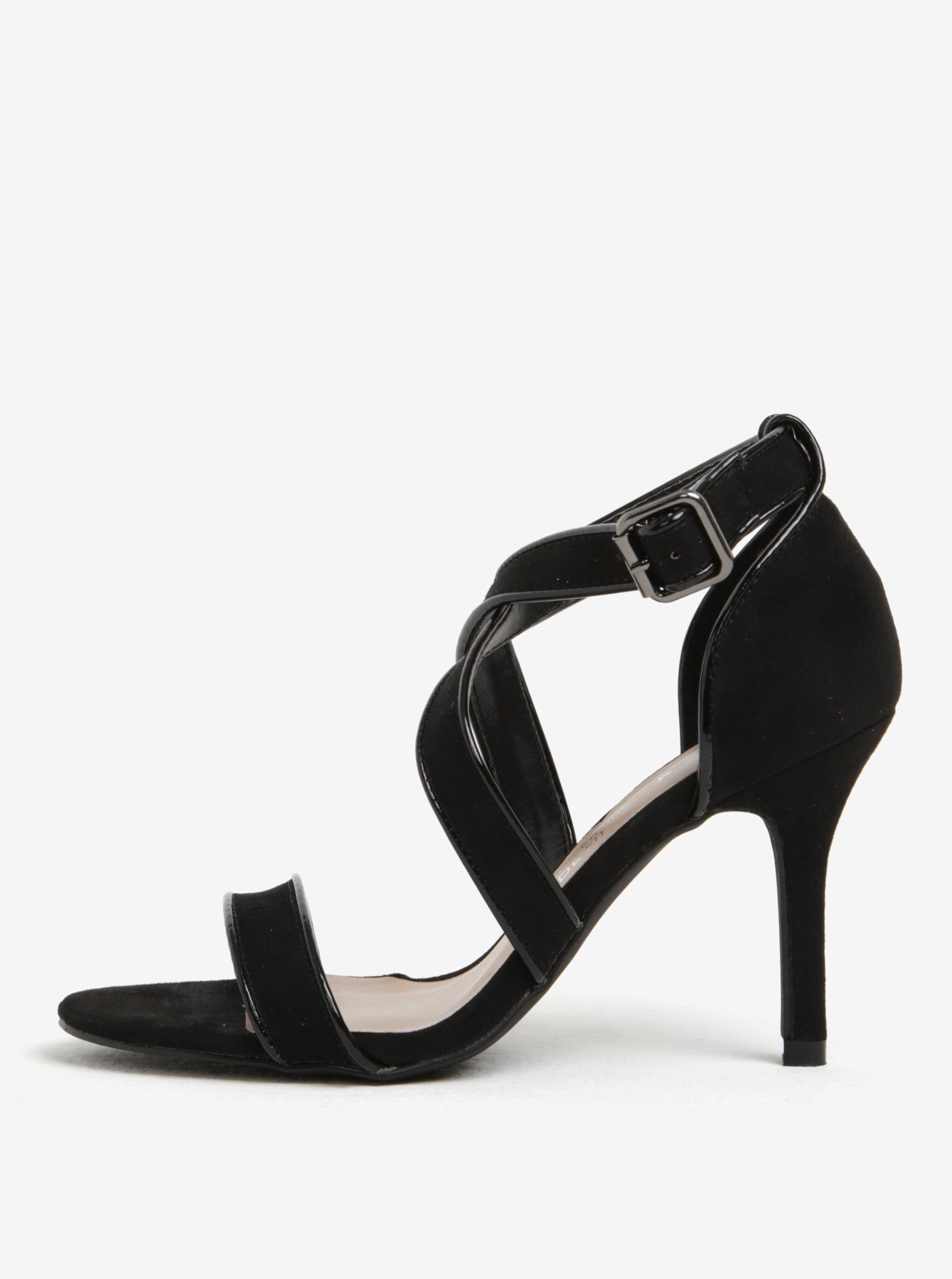 4b80511350140 Čierne sandále na ihličkovom podpätku Dorothy Perkins | ZOOT.sk