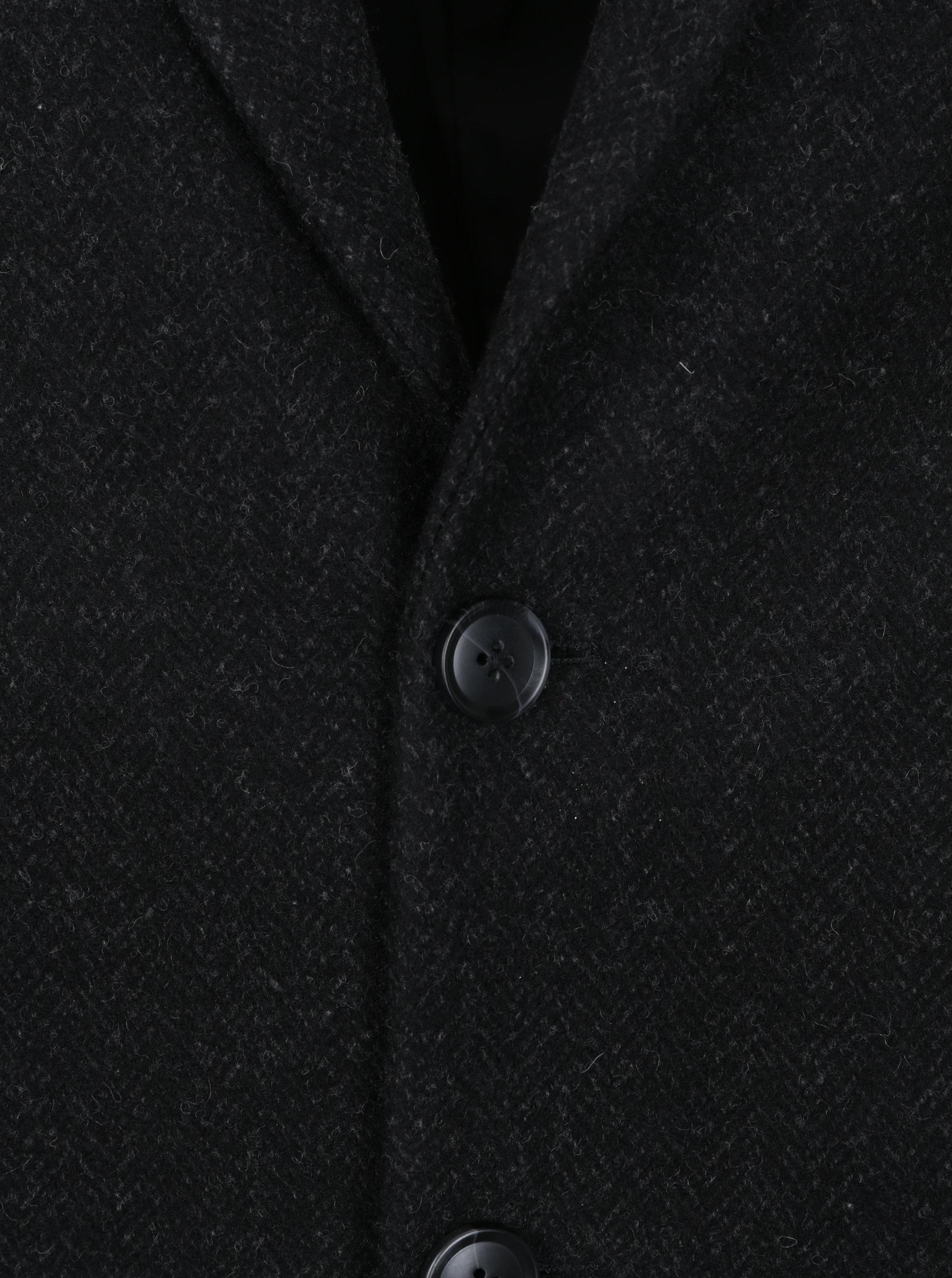 Čierny pánsky kabát s prímesou vlny Broadway Ovtave ... ccee9cef1bb