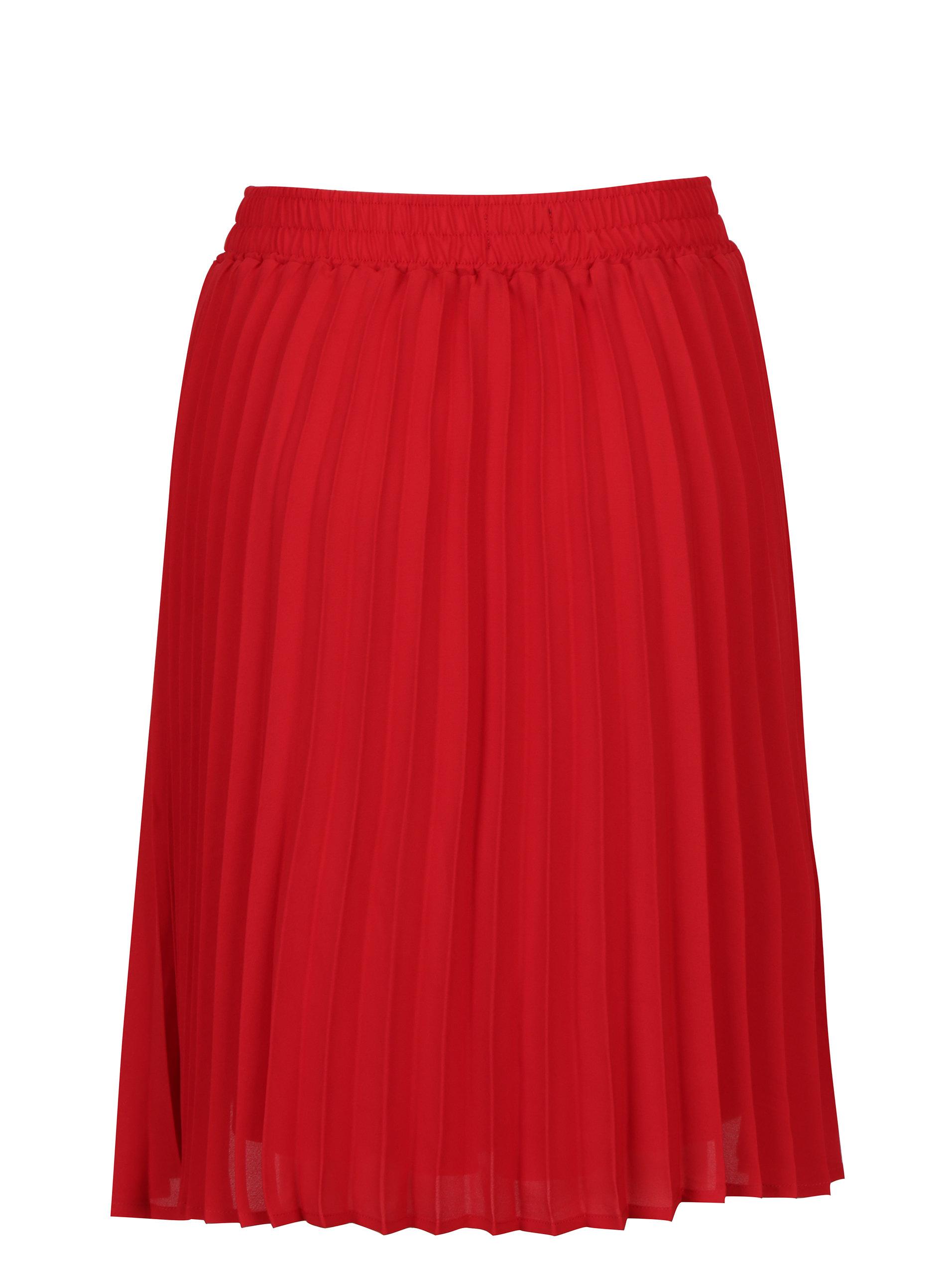 89ef695c5005 Červená plisovaná sukňa Broadway Sukie ...