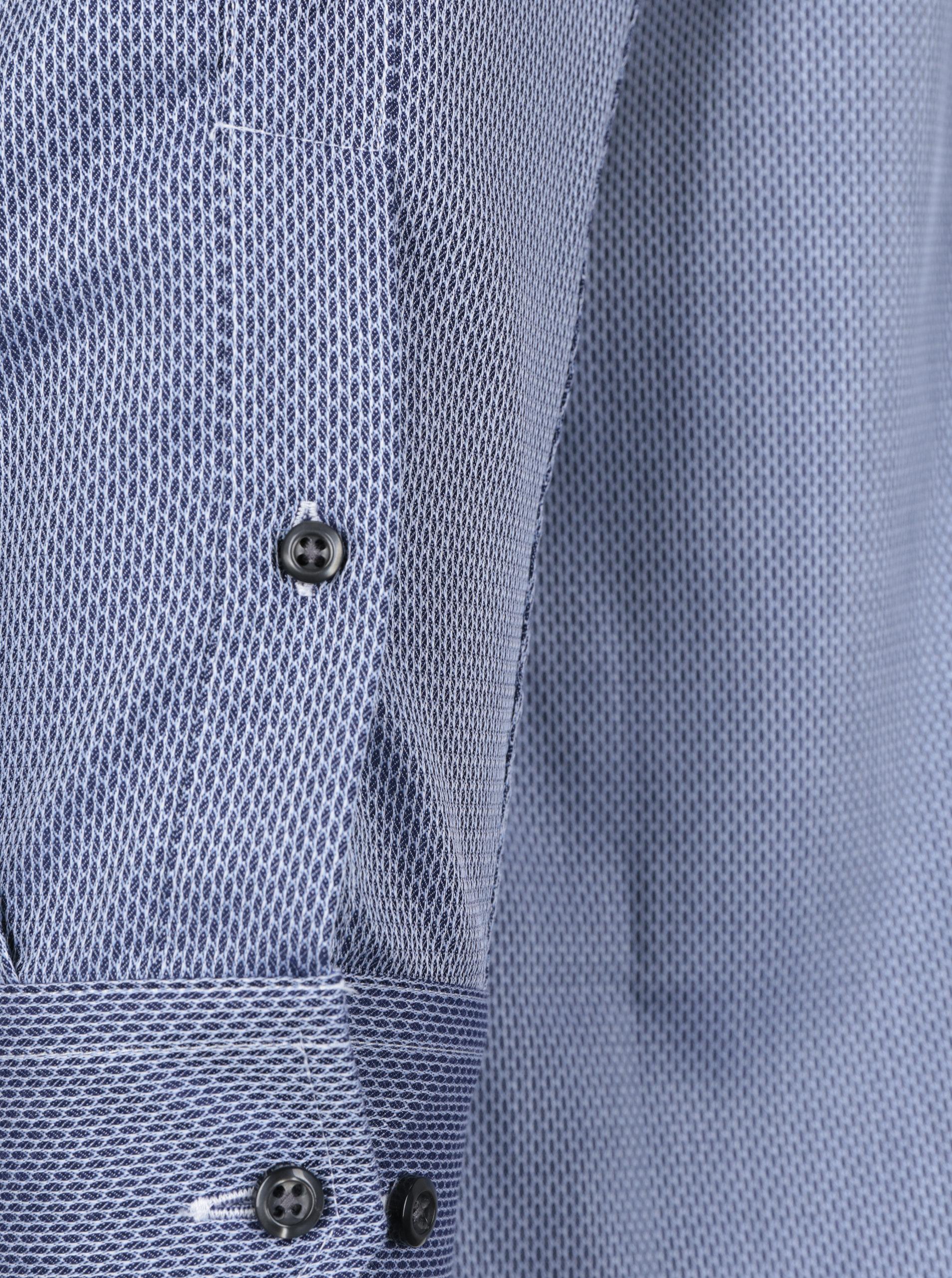 21f7a2a2cd47 Modrá pánska formálna košeľa s jemným vzorom Seven Seas Idaho Florid ...