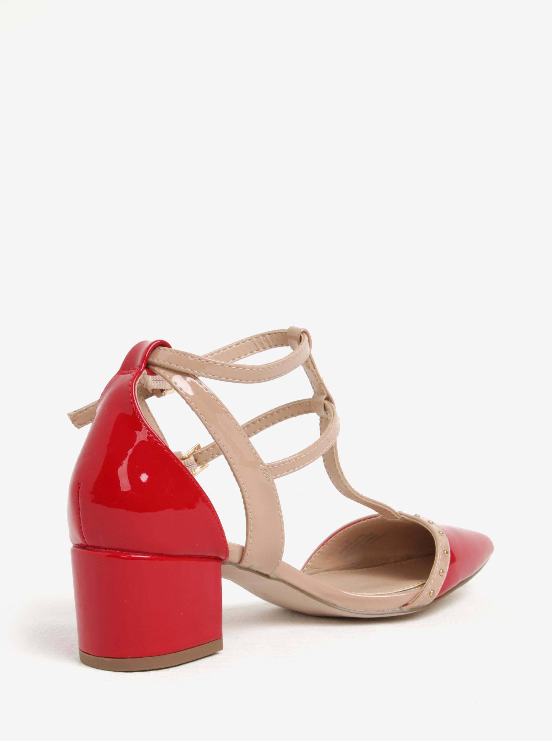 5c4d7826ef17 Ružovo-červené sandále na podpätku Miss KG Averie ...