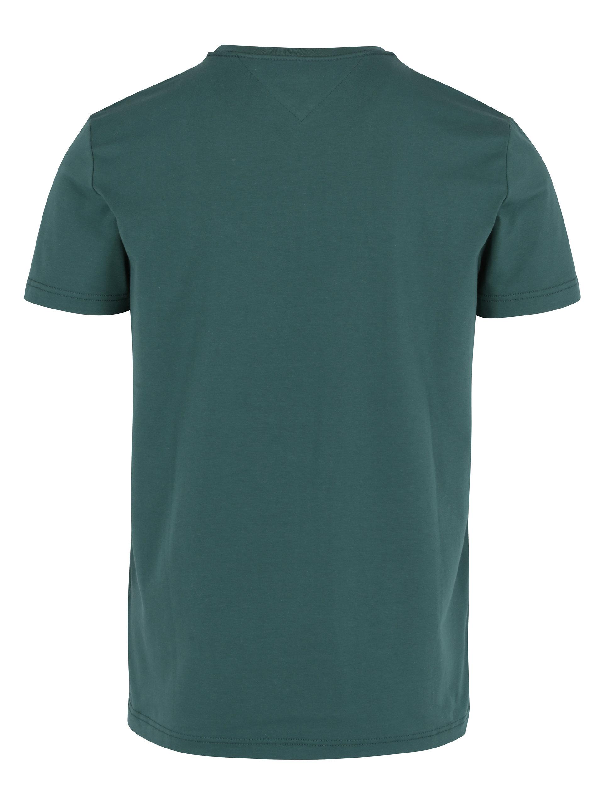 Tmavozelené pánske tričko Tommy Hilfiger New Stretch ... 235d347330b
