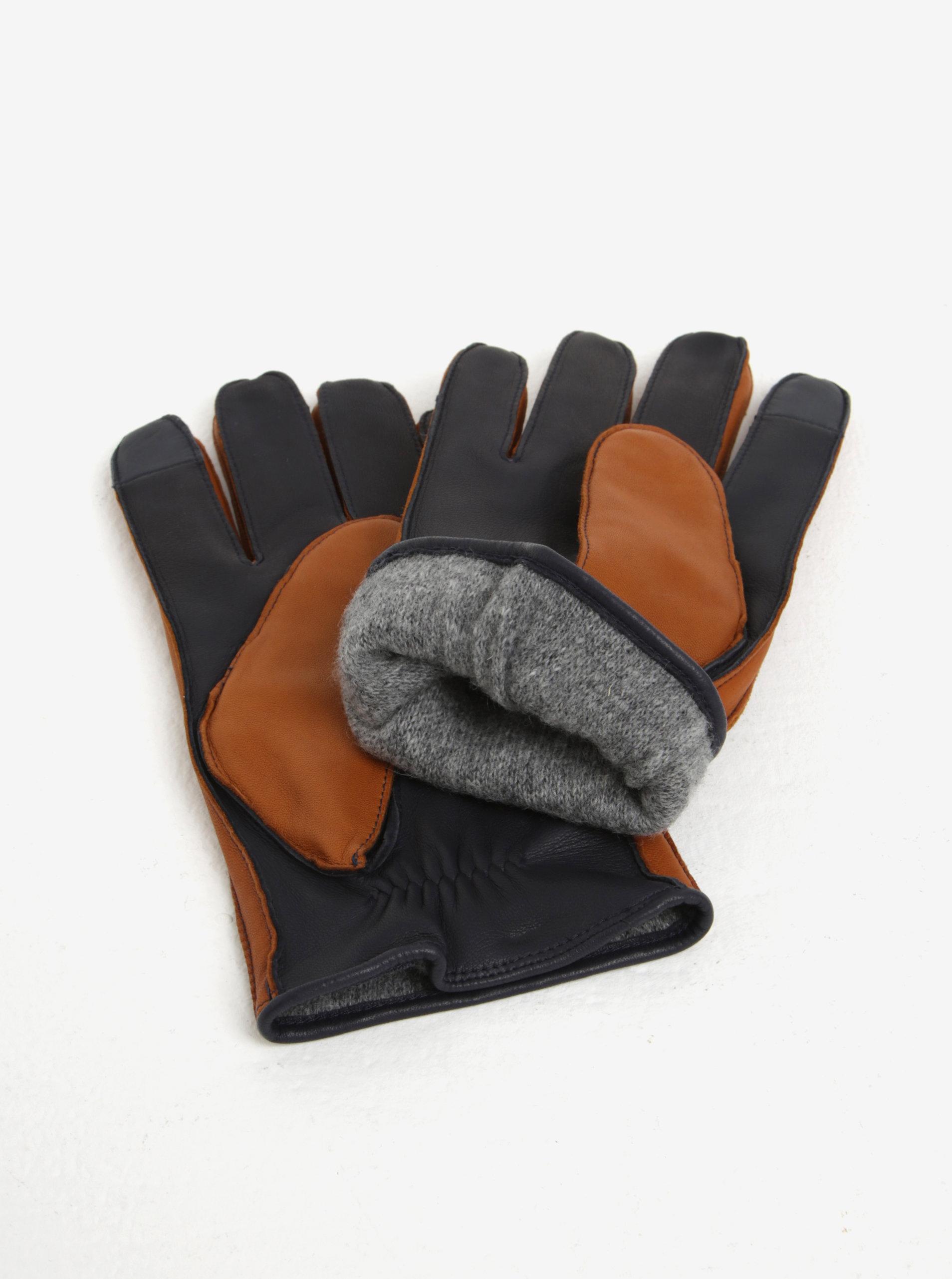 521a38efe5e Hnědé pánské kožené rukavice Tommy Hilfiger ...