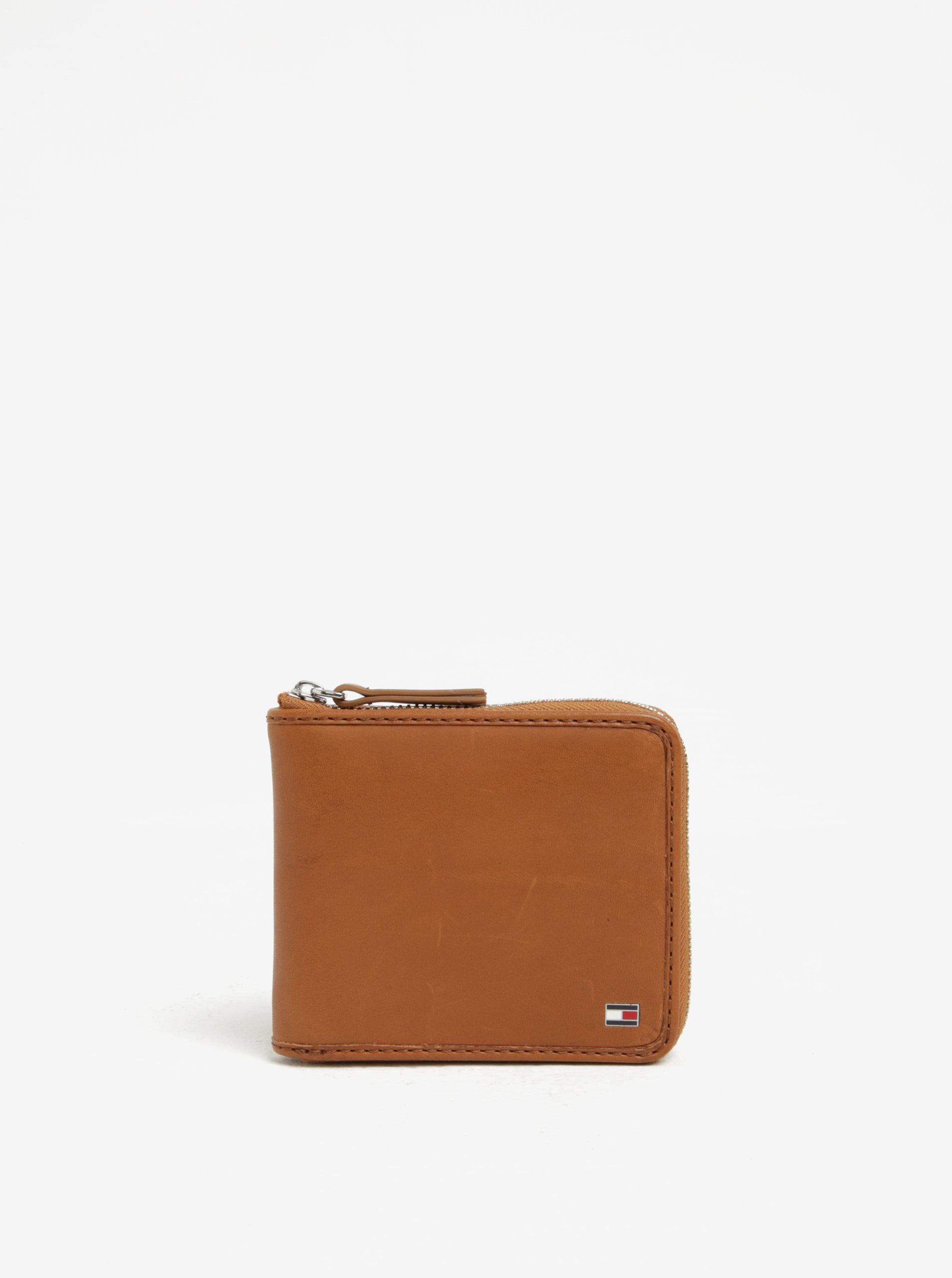 Hnedá pánska kožená peňaženka so zipsom Tommy Hilfiger ... a3a3d1e73f9
