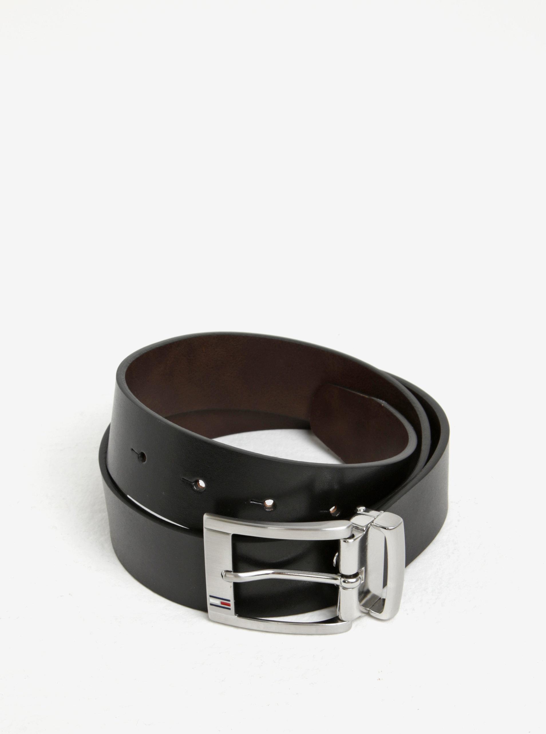 8de7f8a5745 Černý pánský kožený pásek Tommy Hilfiger ...