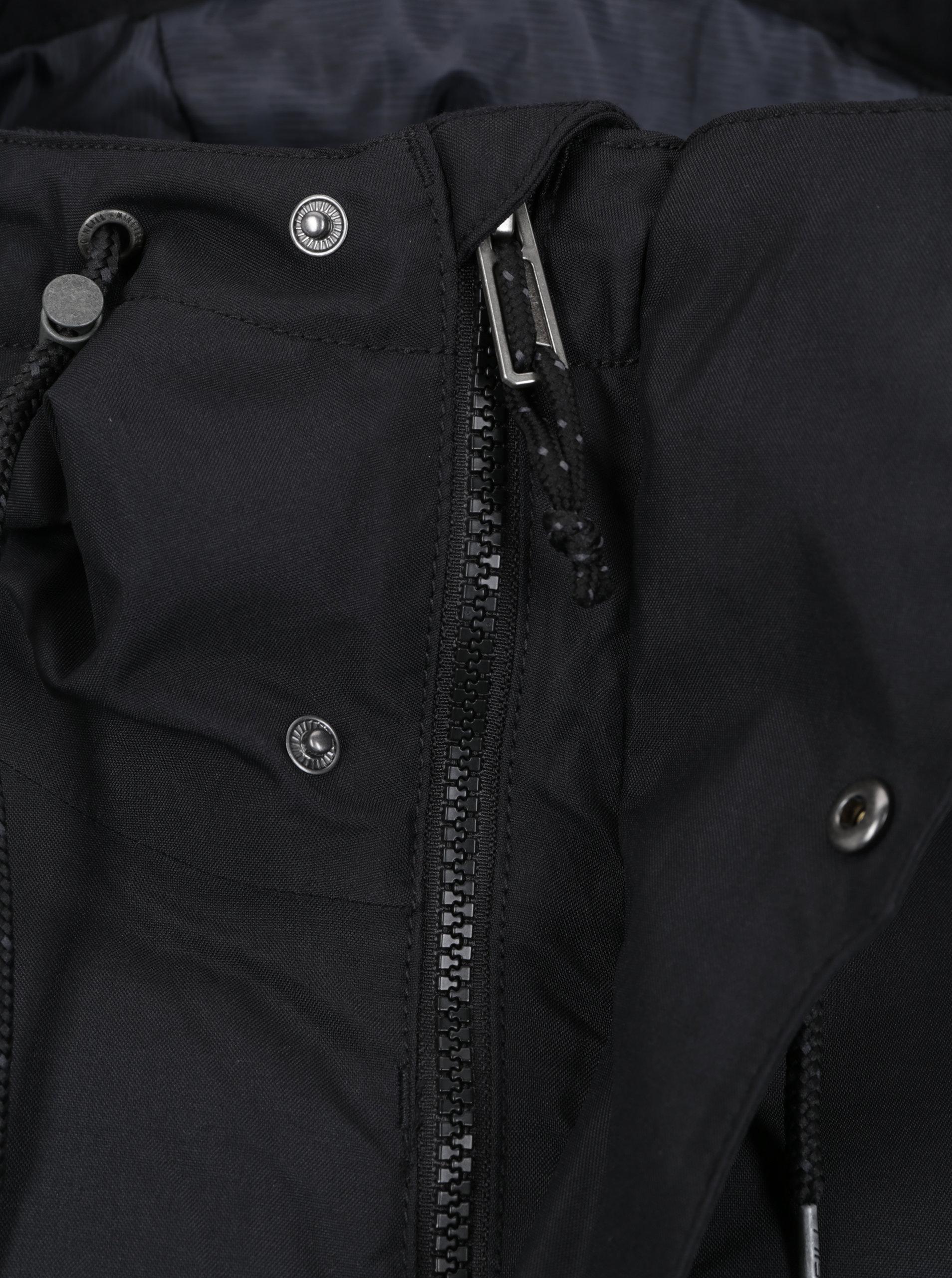 66b930ffc2 Černá voděodolná funkční bunda s potiskem na zádech O Neill ...