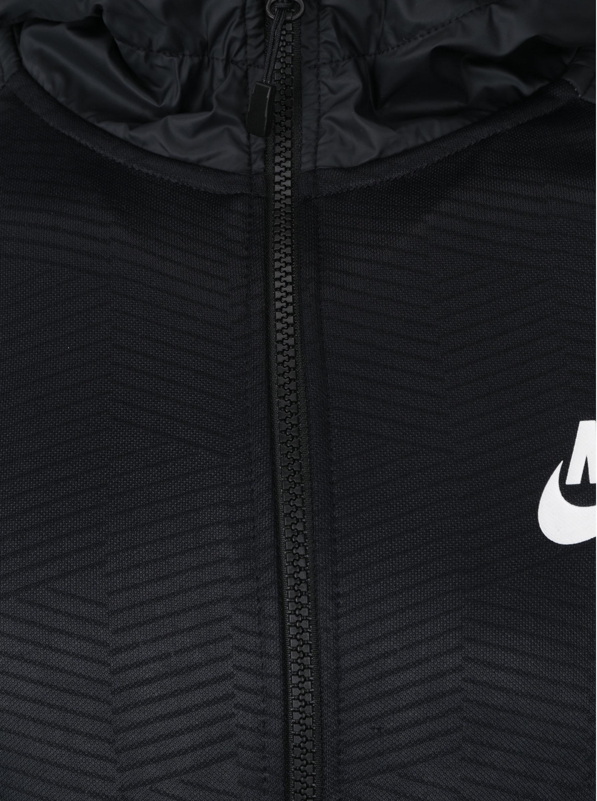 2aae65d1a9 Čierno-sivá pánska mikina s kapucňou Nike NSW ...