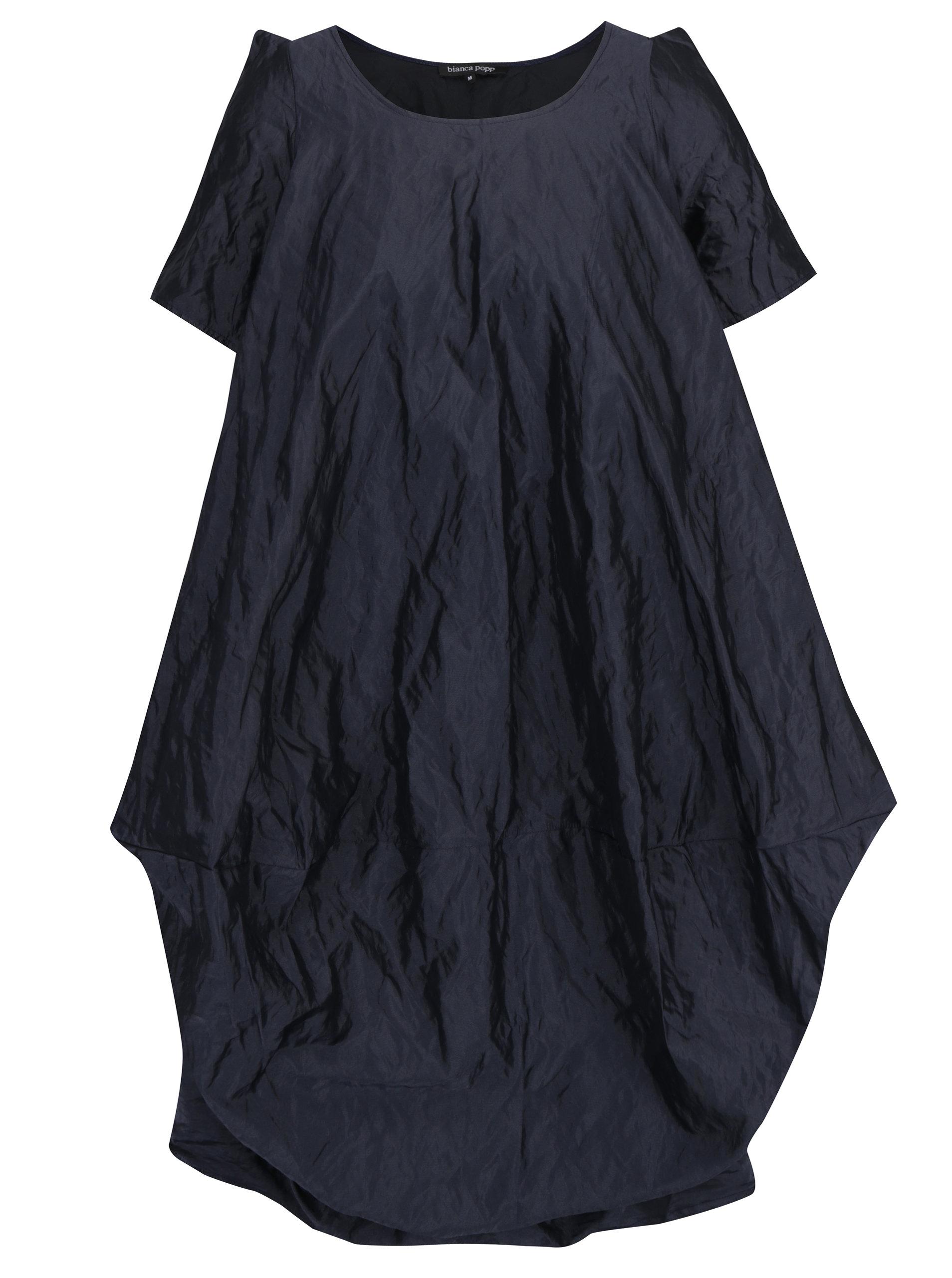 6b03a5b72c1f Tmavě modré třpytivé balónové šaty s kapsami Bianca Popp ...