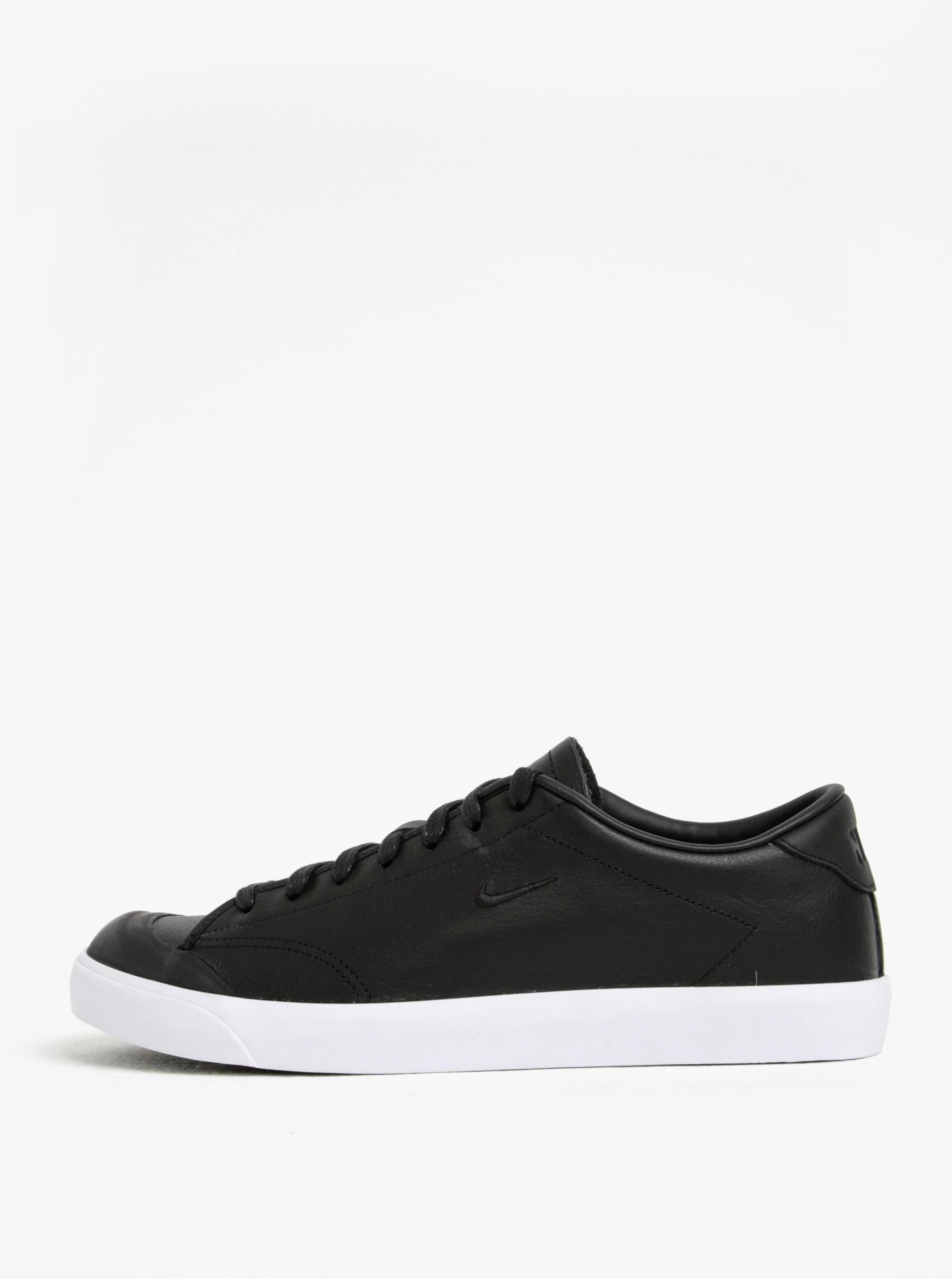 Čierne pánske kožené tenisky Nike All Court 2 Low ... a7f9e82a562
