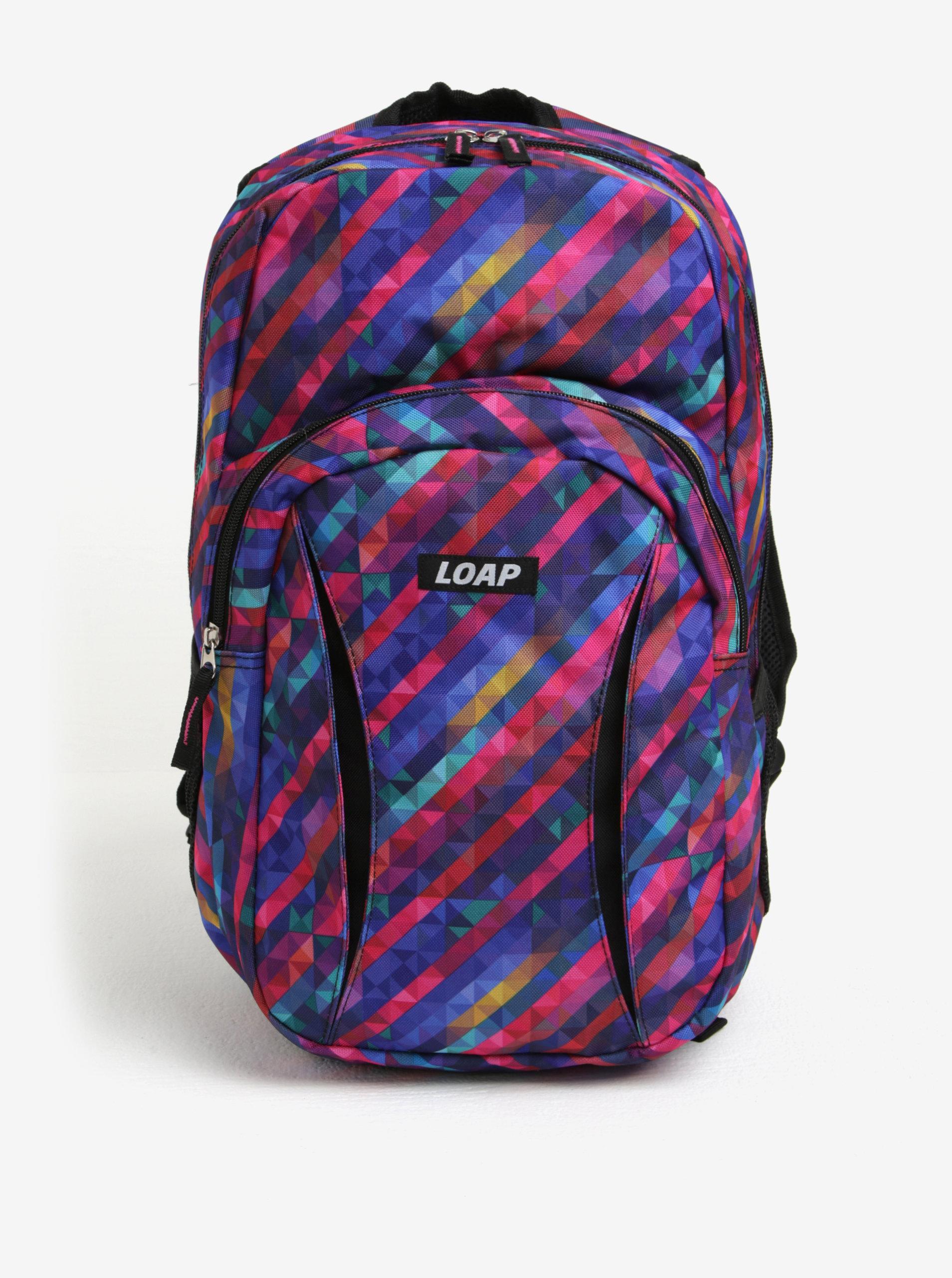 1e610ad7f2f7 Fialový dámsky vzorovaný batoh LOAP Asso 20 l ...