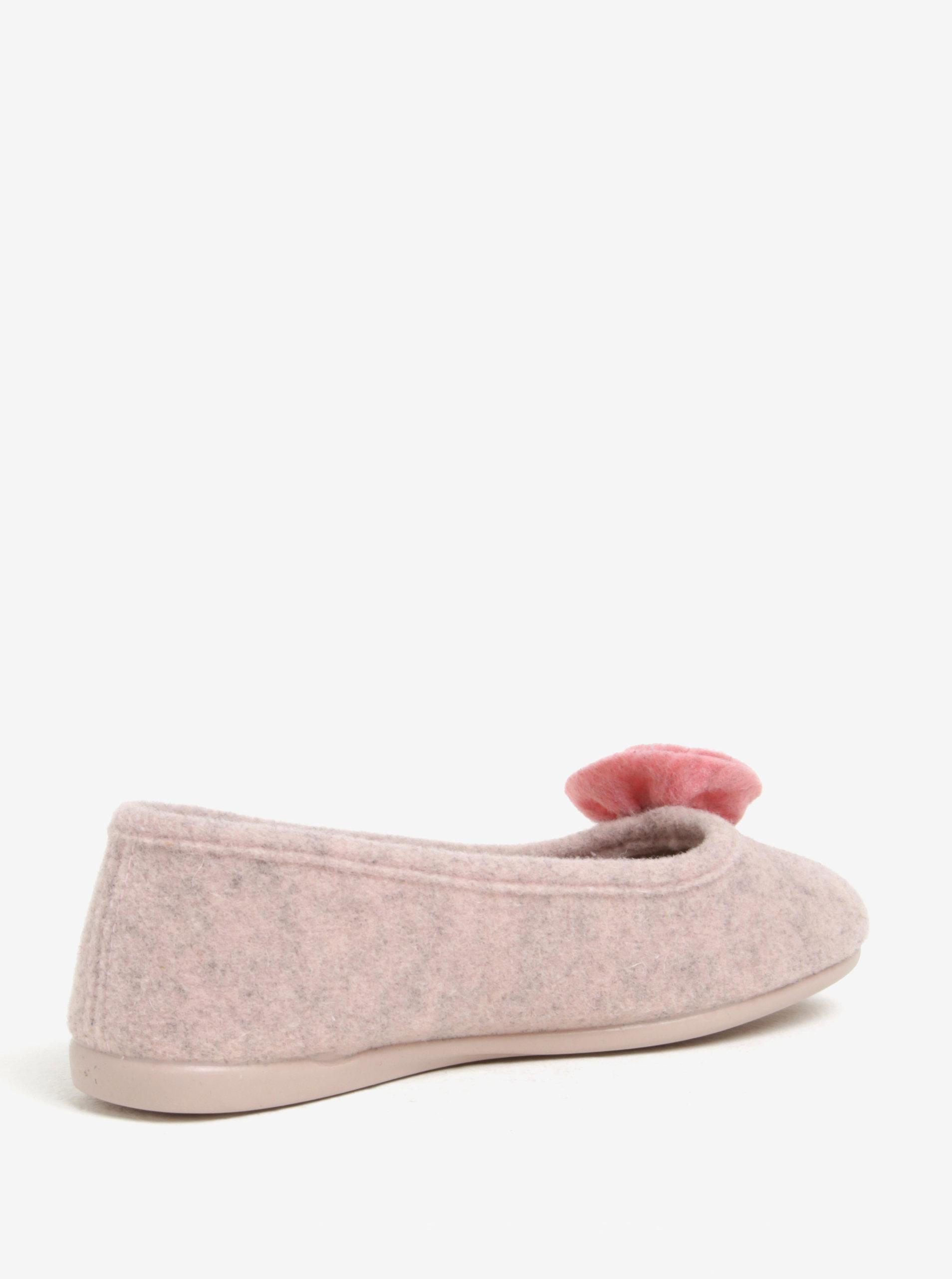 fcb3653360 Ružové dámske papuče s aplikáciou OJJU ...