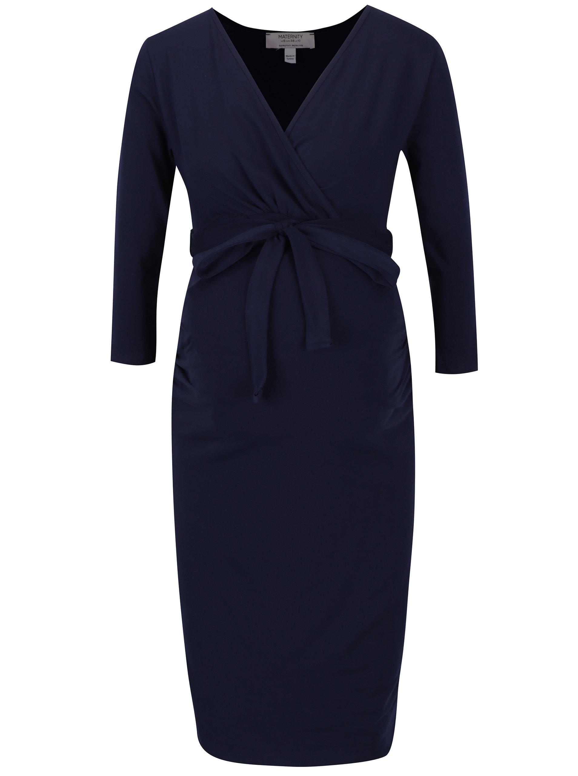 Tmavě modré těhotenské kojicí šaty Dorothy Perkins Maternity ... b09f22d4bb