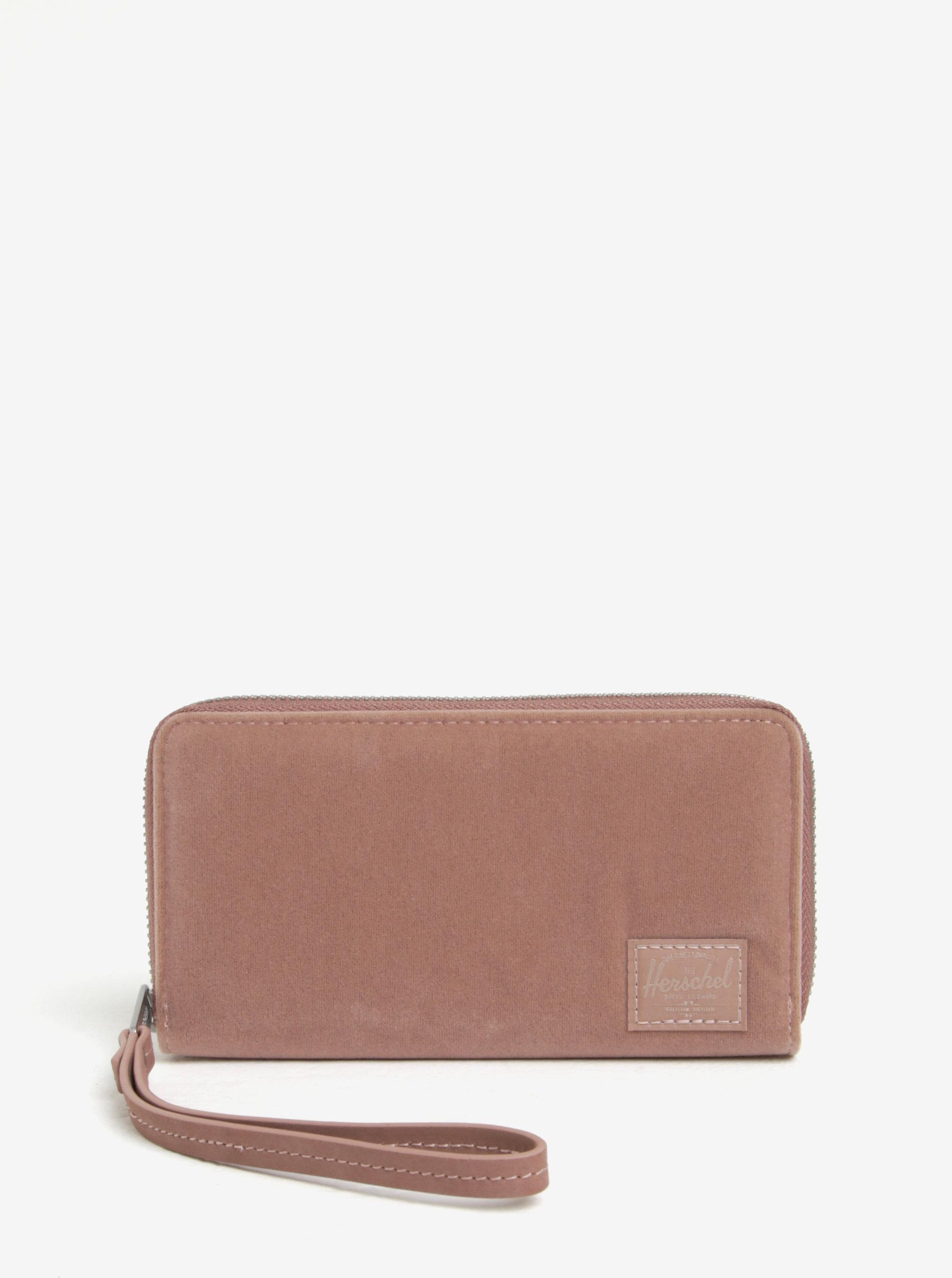 1edeebac8 Staroružová dámska zamatová peňaženka Herschel Thomas   ZOOT.sk