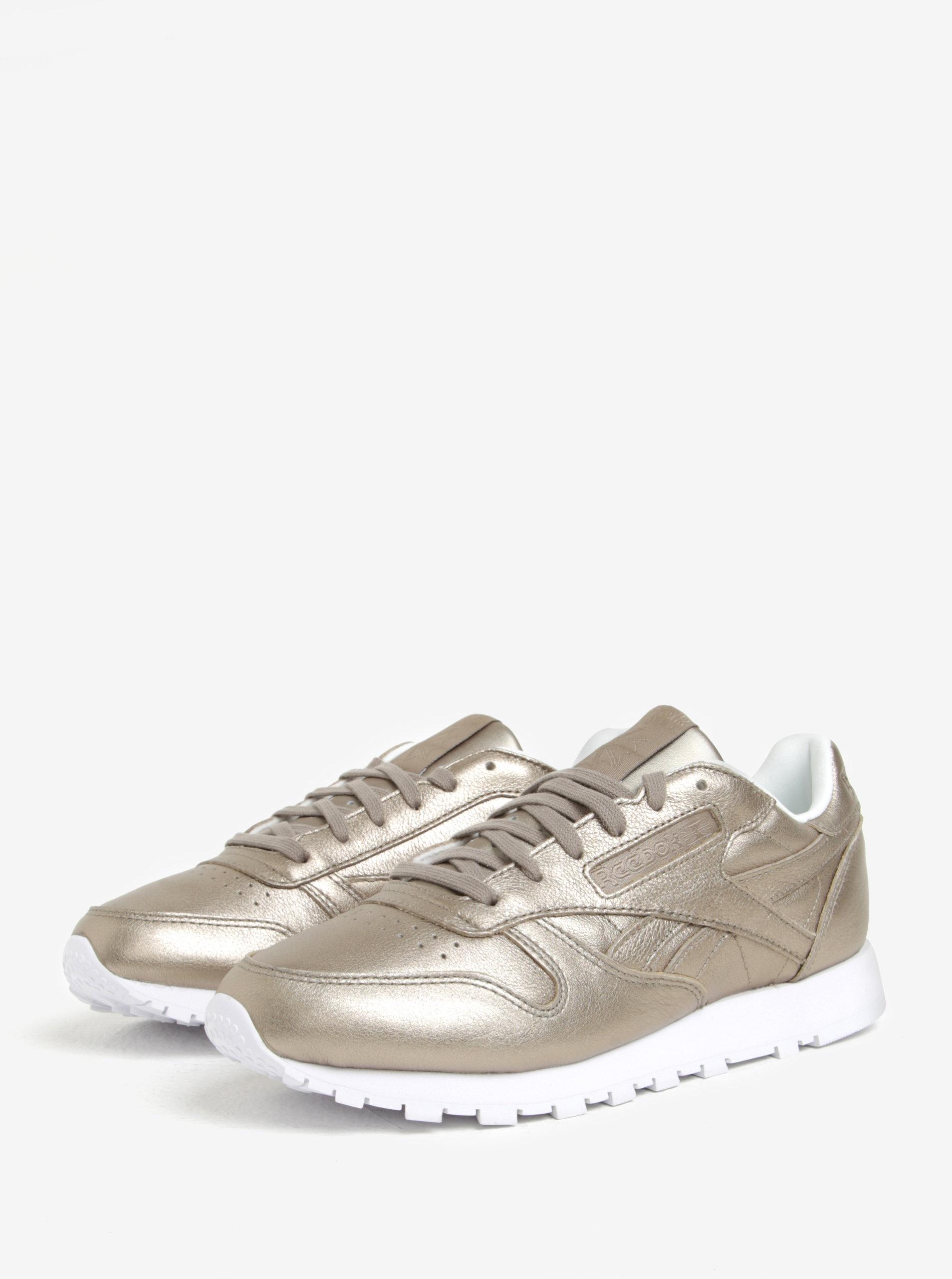 Dámské kožené tenisky ve zlaté barvě Reebok Classic Leather Melted Metal ... 10287f5aed