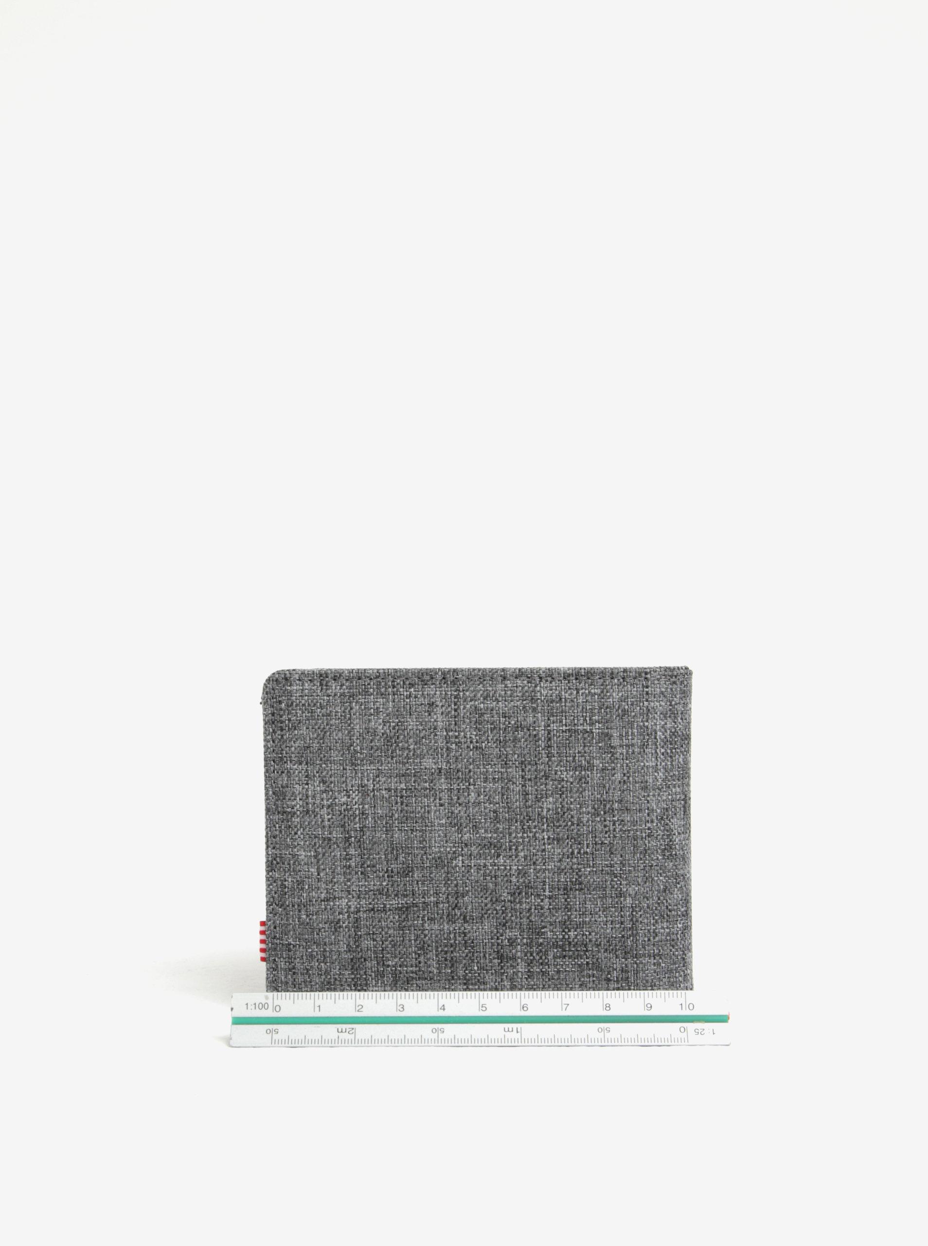 2e9906f0c3 Sivá pánska melírovaná peňaženka Herschel Roy ...