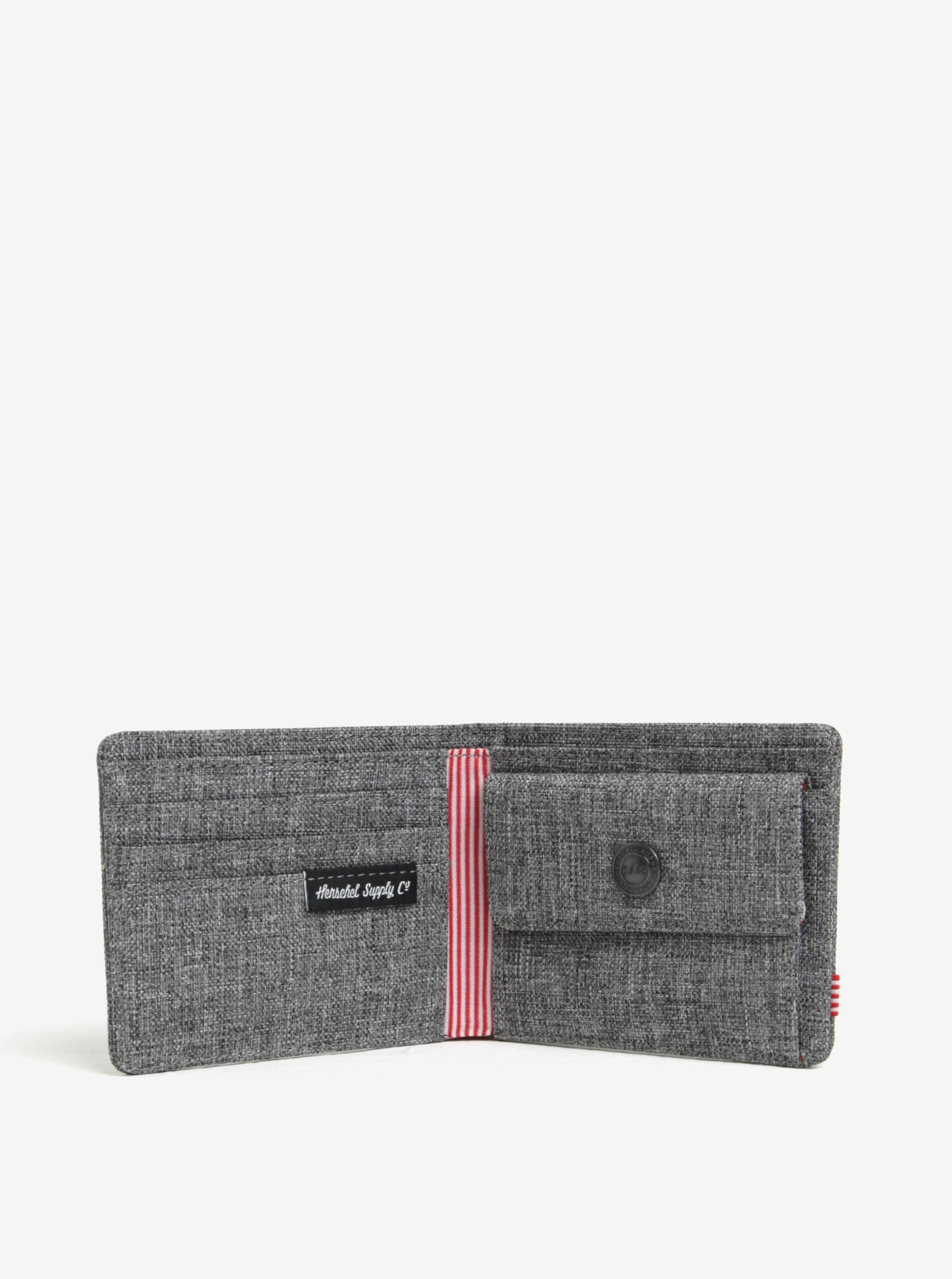 213ed33dd3 Sivá pánska melírovaná peňaženka Herschel Roy