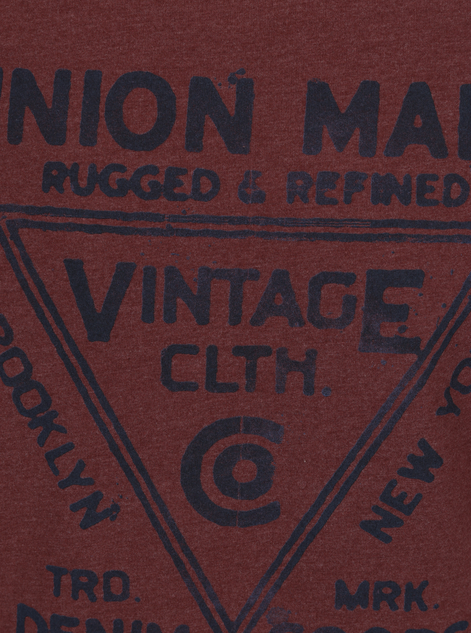 19814cfff5b0 Vínové tričko s potlačou Jack   Jones Vintage Recycle Adam ...