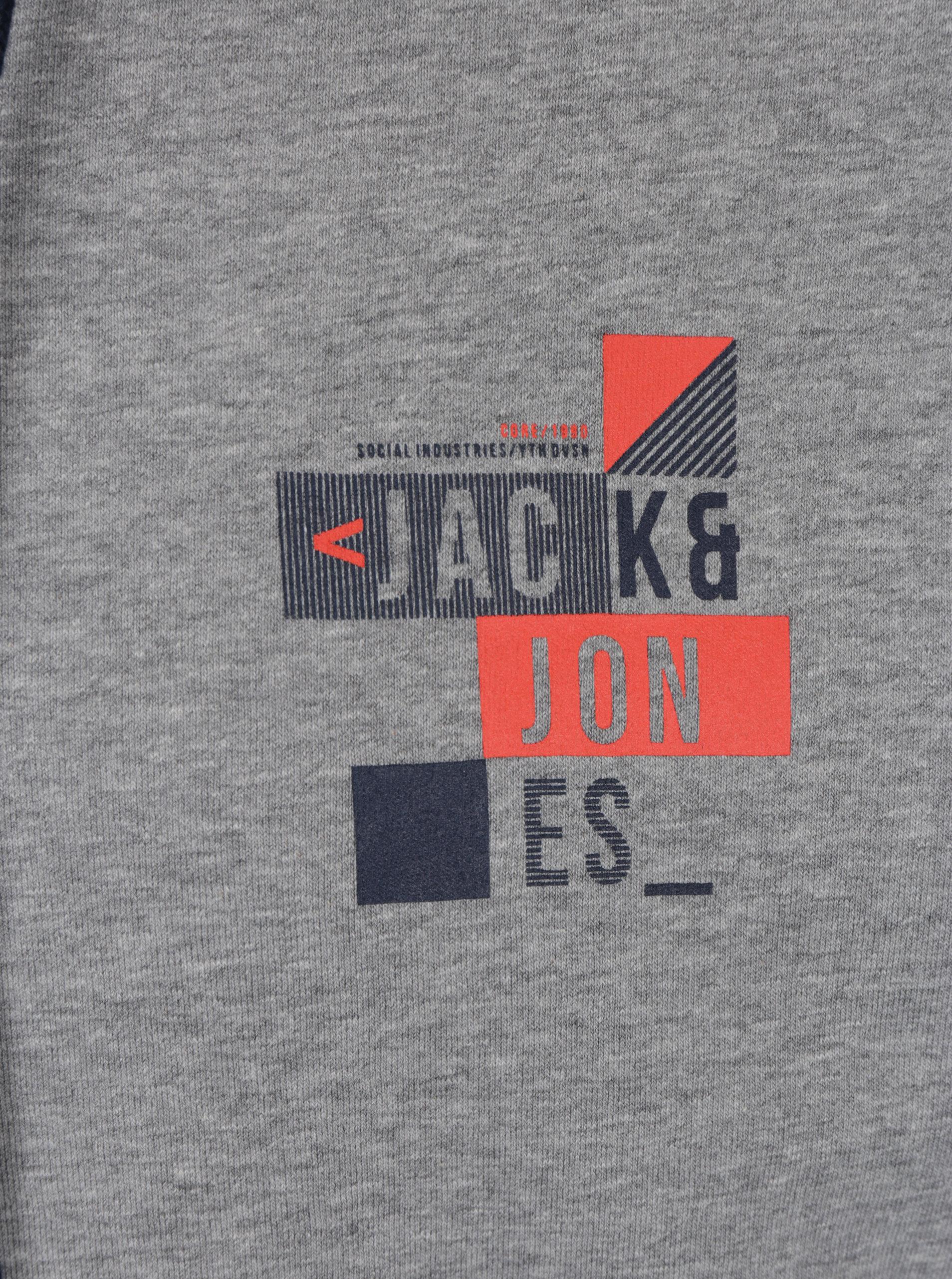 2eaf164083e Šedá mikina s kapucí a potiskem Jack   Jones Core Booster ...