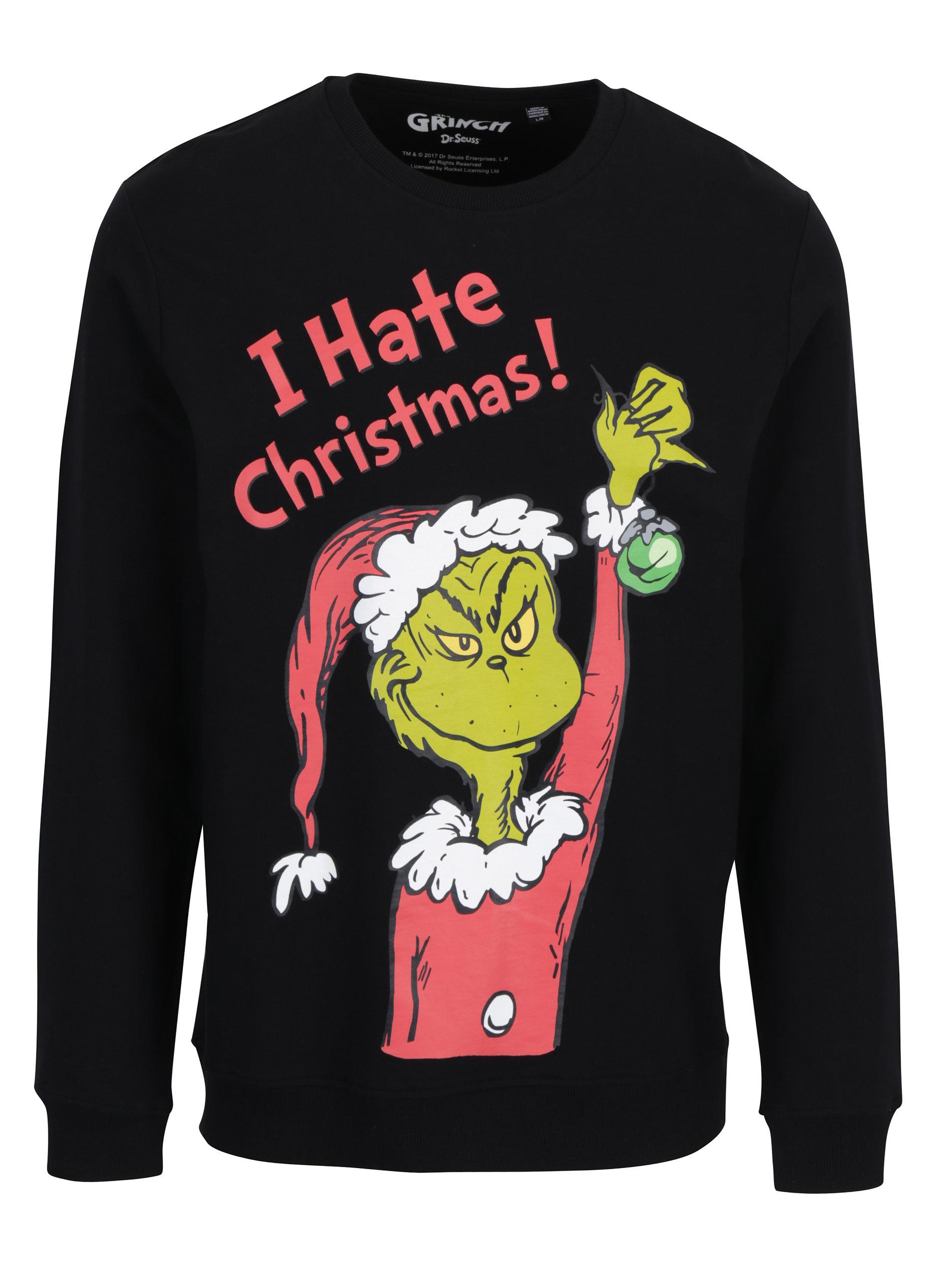Černá mikina s vánočním motivem ONLY   SONS Grinch ... 5eaa7193ad