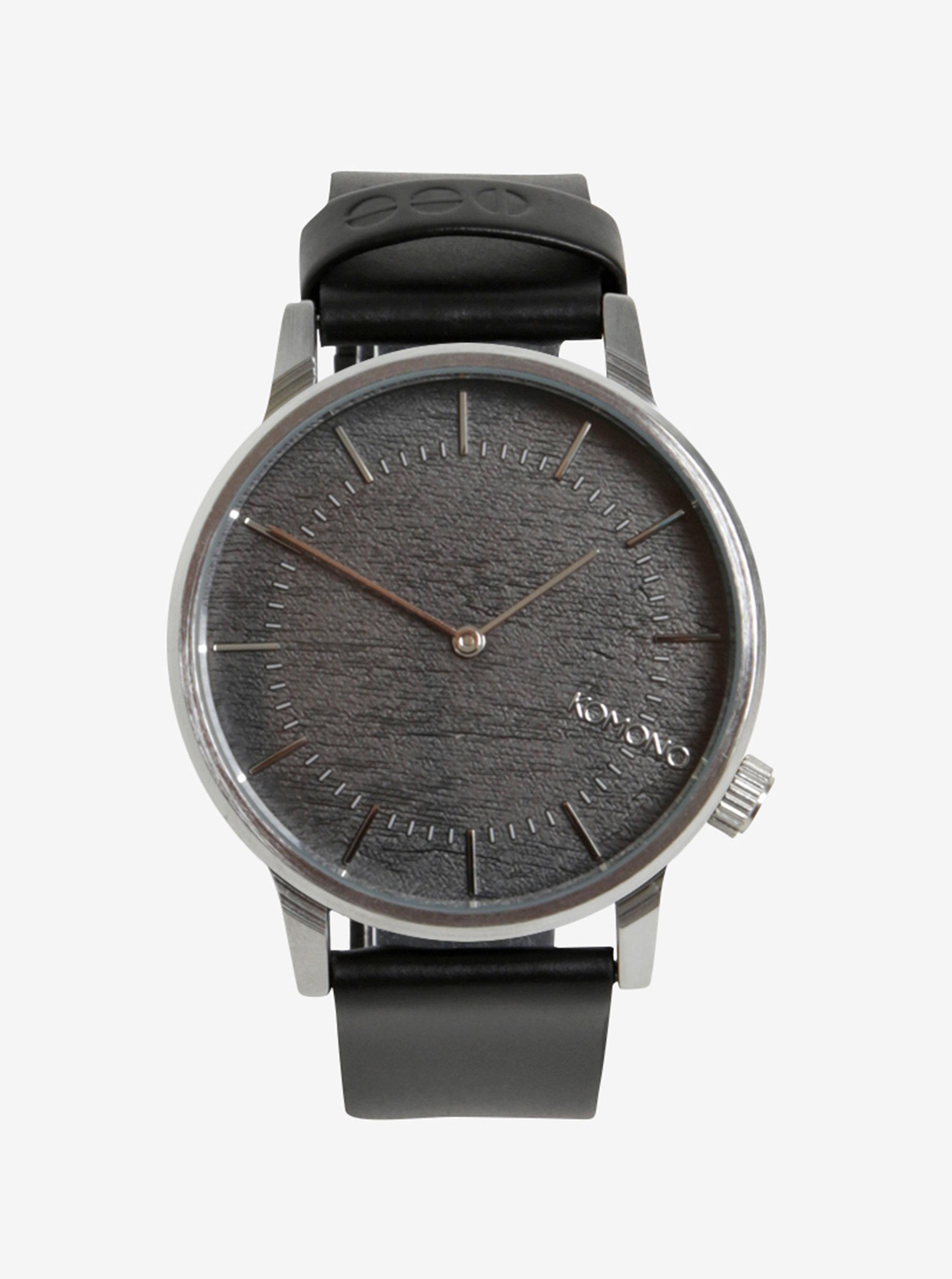 Pánské hodinky ve stříbrné barvě s koženým páskem Komono Winston ... 9786256143