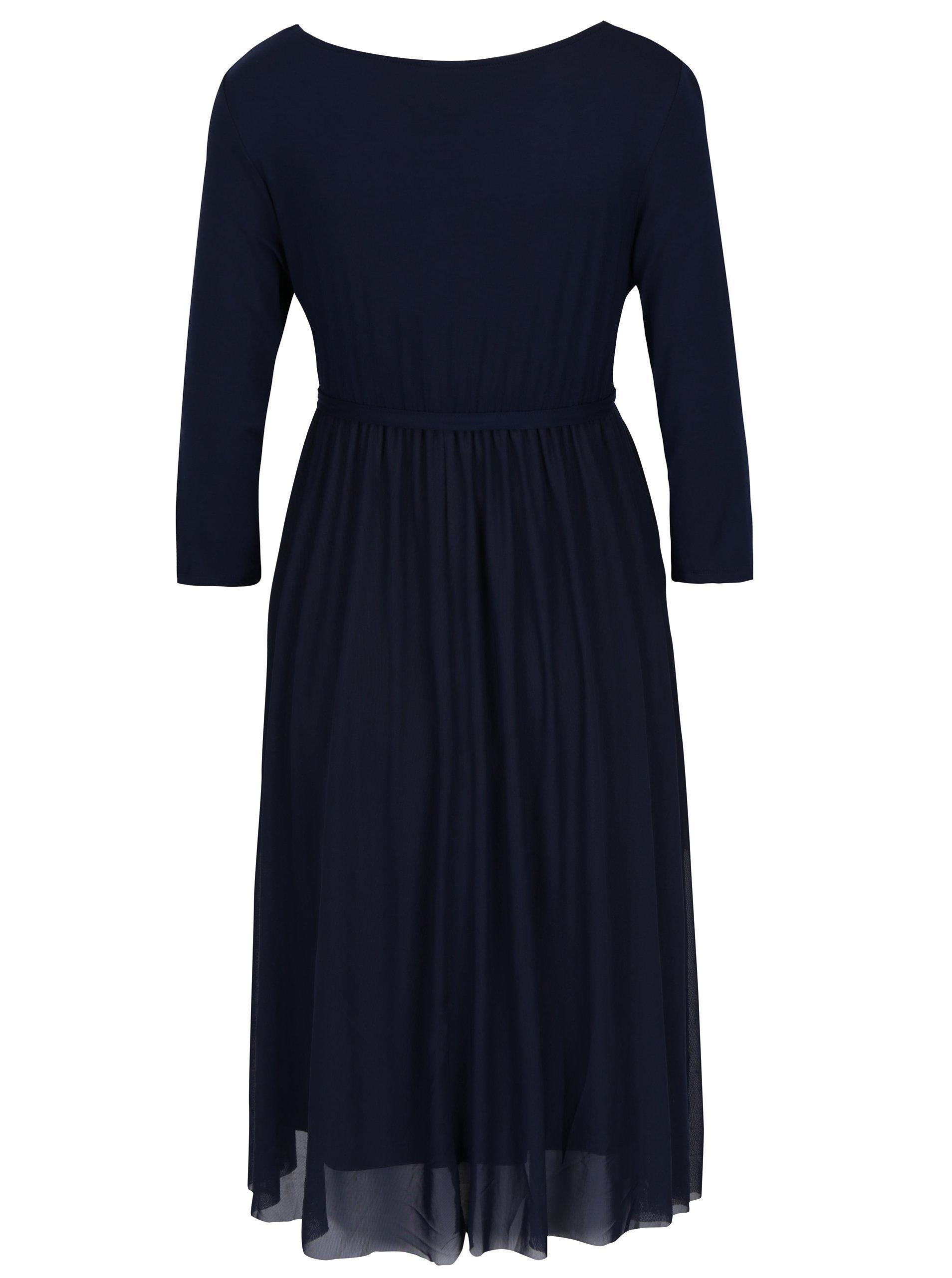 48bb4065898c Tmavě modré těhotenské šaty s páskem Mama.licious Bianka ...